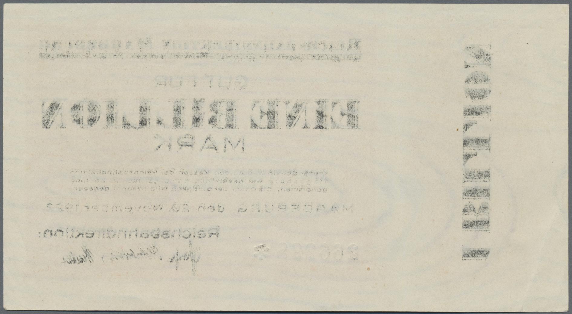 Lot 01405 - Deutschland - Reichsbahn / Reichspost | Banknoten  -  Auktionshaus Christoph Gärtner GmbH & Co. KG Sale #48 The Banknotes