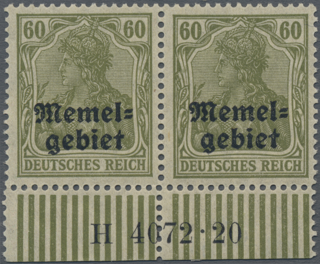 Lot 01021 - Memel  -  Auktionshaus Christoph Gärtner GmbH & Co. KG 50th Auction Anniversary Auction - Day 3