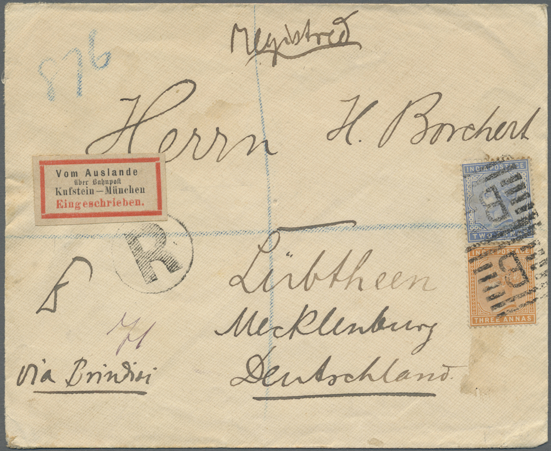 Lot 07116 - aden  -  Auktionshaus Christoph Gärtner GmbH & Co. KG Sale #43 Asia, Overseas, Air & Ships, Mail, Spain, Day 4