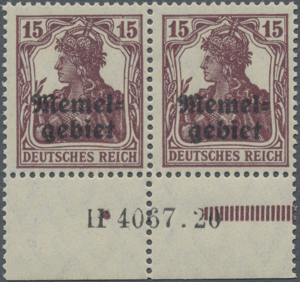Lot 01005 - Memel  -  Auktionshaus Christoph Gärtner GmbH & Co. KG 50th Auction Anniversary Auction - Day 3