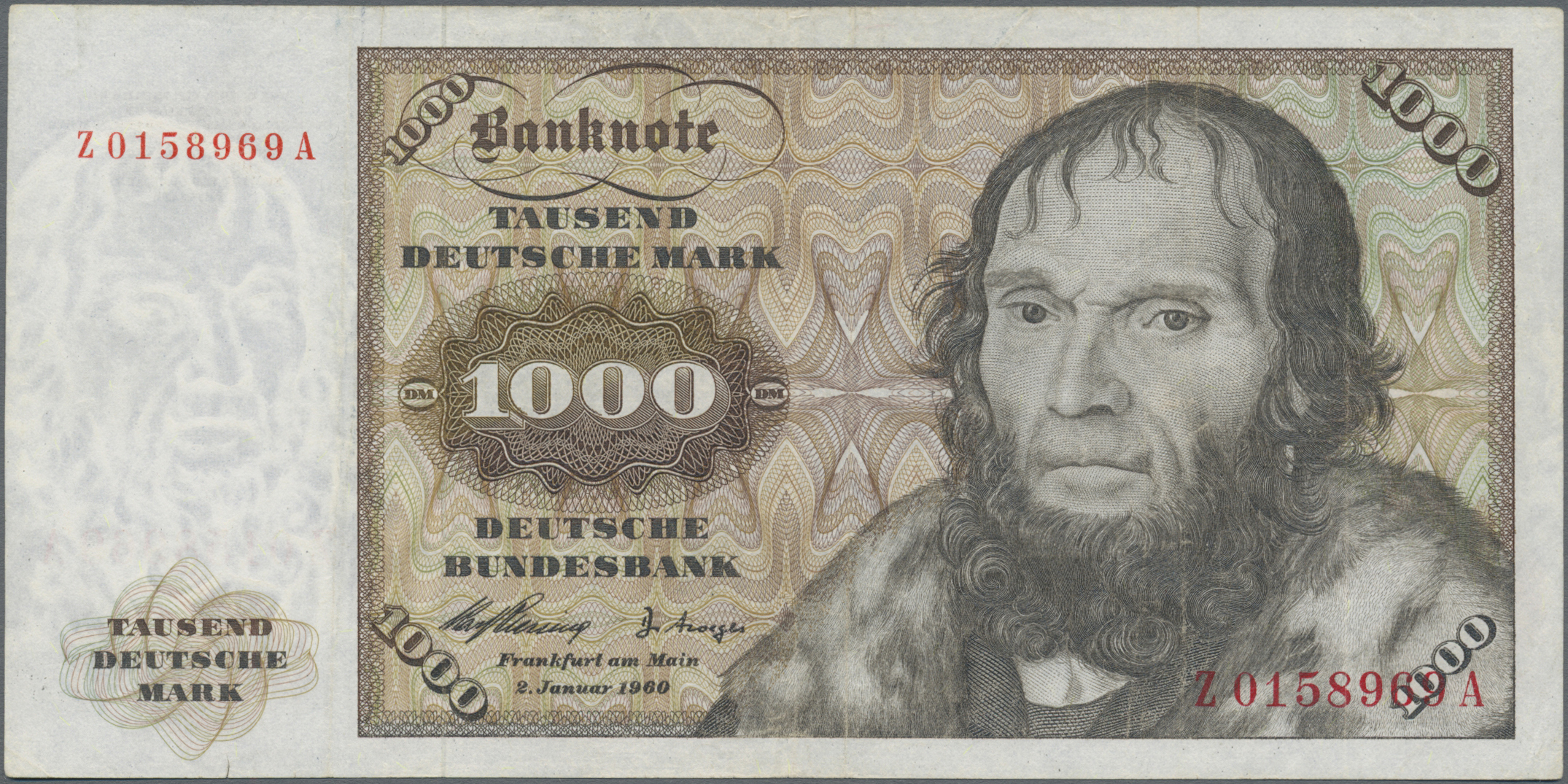 Lot 03421 - Deutschland - Bank Deutscher Länder + Bundesrepublik Deutschland | Banknoten  -  Auktionshaus Christoph Gärtner GmbH & Co. KG Sale #45 Banknotes Germany/Numismatics