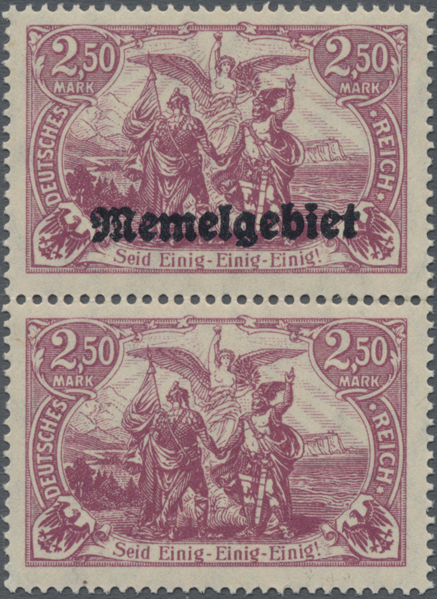 Lot 01016 - Memel  -  Auktionshaus Christoph Gärtner GmbH & Co. KG 50th Auction Anniversary Auction - Day 3