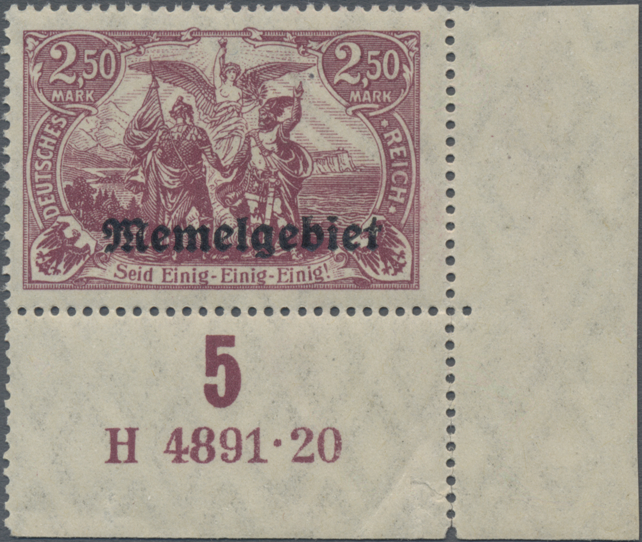 Lot 01017 - Memel  -  Auktionshaus Christoph Gärtner GmbH & Co. KG 50th Auction Anniversary Auction - Day 3