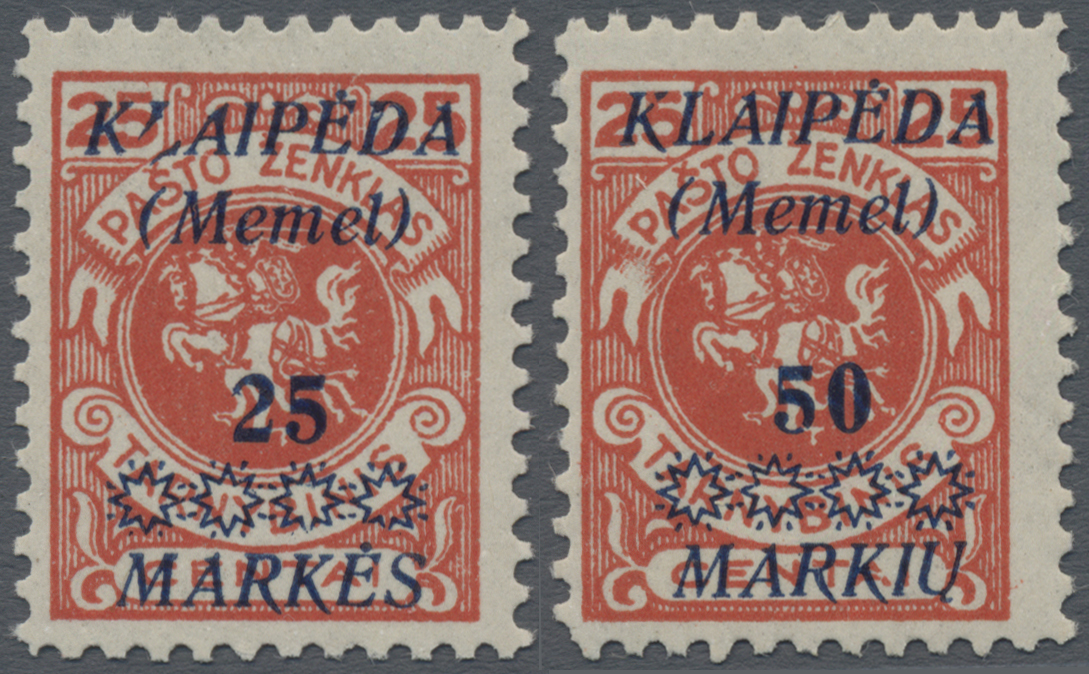 Lot 01092 - Memel  -  Auktionshaus Christoph Gärtner GmbH & Co. KG 50th Auction Anniversary Auction - Day 3