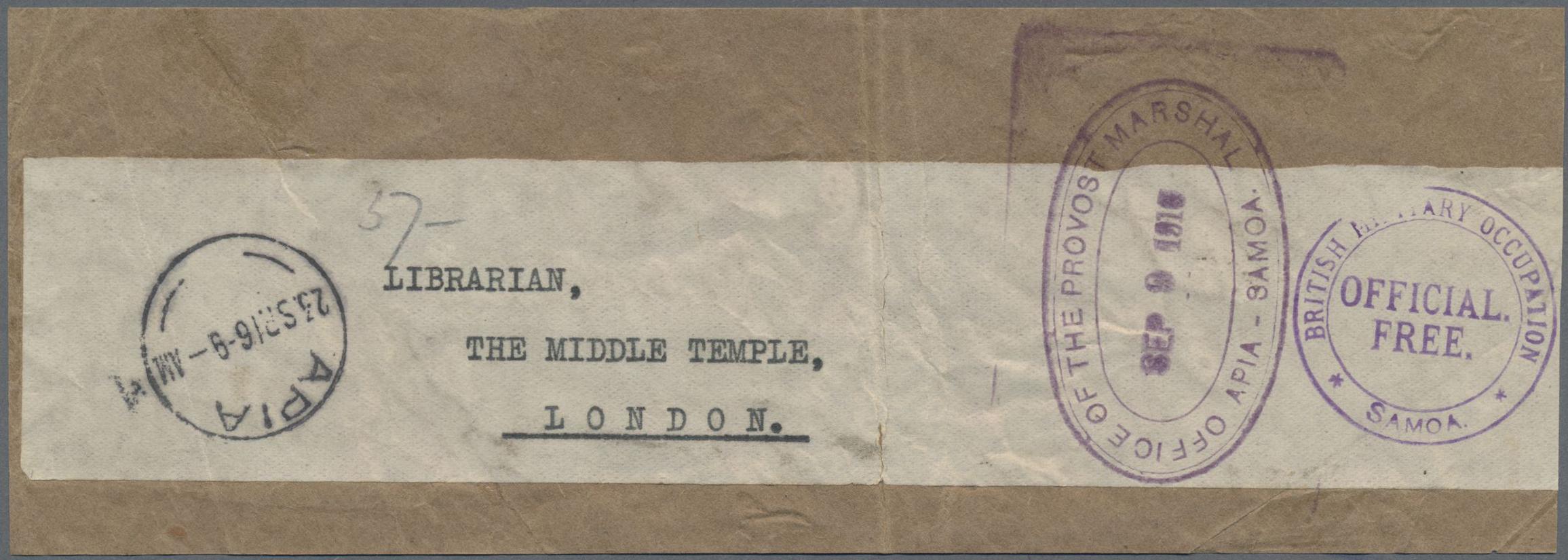 Lot 2142 - Deutsche Kolonien - Samoa - Britische Besetzung  -  Auktionshaus Edgar Mohrmann & Co. Internat. Briefmarken-Auktionen GmhH Auction #211