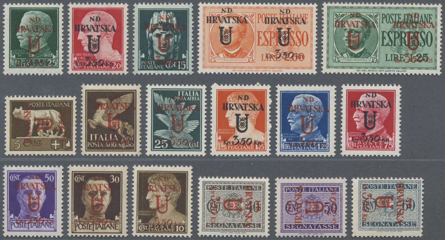 Lot 14325 - Kroatien - Lokalausgaben: Dalmatien  -  Auktionshaus Christoph Gärtner GmbH & Co. KG Sale #47 Single lots: Asia, Thematics, Overseas, Europe