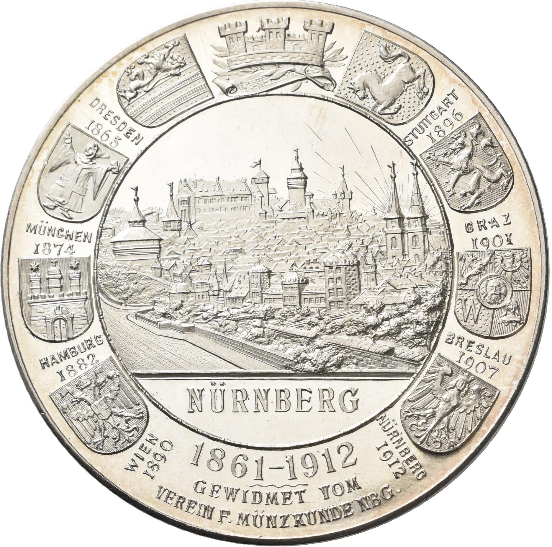 Lot 02443 - Medaillen Deutschland - Geographisch | Münzen  -  Auktionshaus Christoph Gärtner GmbH & Co. KG Sale #48 The Coins & The Picture Post Cards