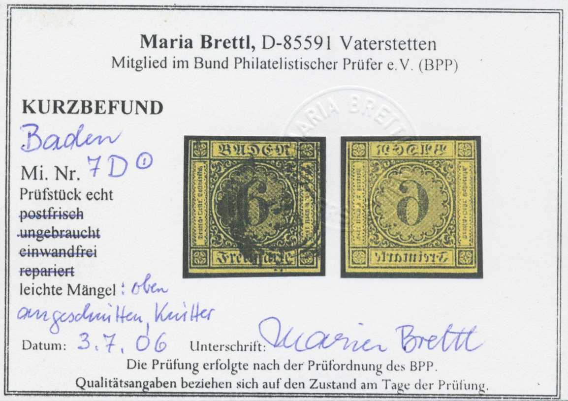 Lot 28145 - Baden - Marken und Briefe  -  Auktionshaus Christoph Gärtner GmbH & Co. KG Sale #46 Gollcetions Germany - including the suplement