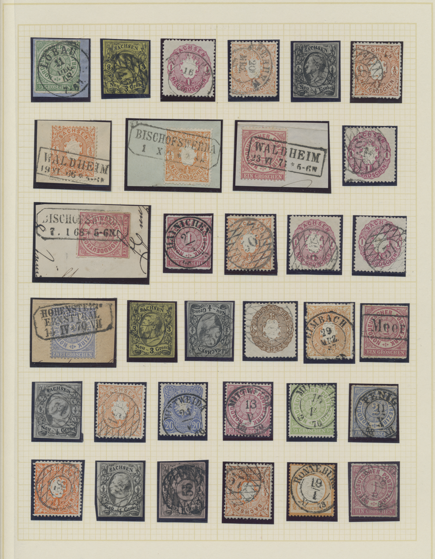 Lot 24357 - Sachsen - Ortsstempel  -  Auktionshaus Christoph Gärtner GmbH & Co. KG Sale #47 Colections: Germany