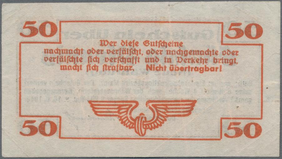 Lot 01408 - Deutschland - Reichsbahn / Reichspost   Banknoten  -  Auktionshaus Christoph Gärtner GmbH & Co. KG Sale #48 The Banknotes