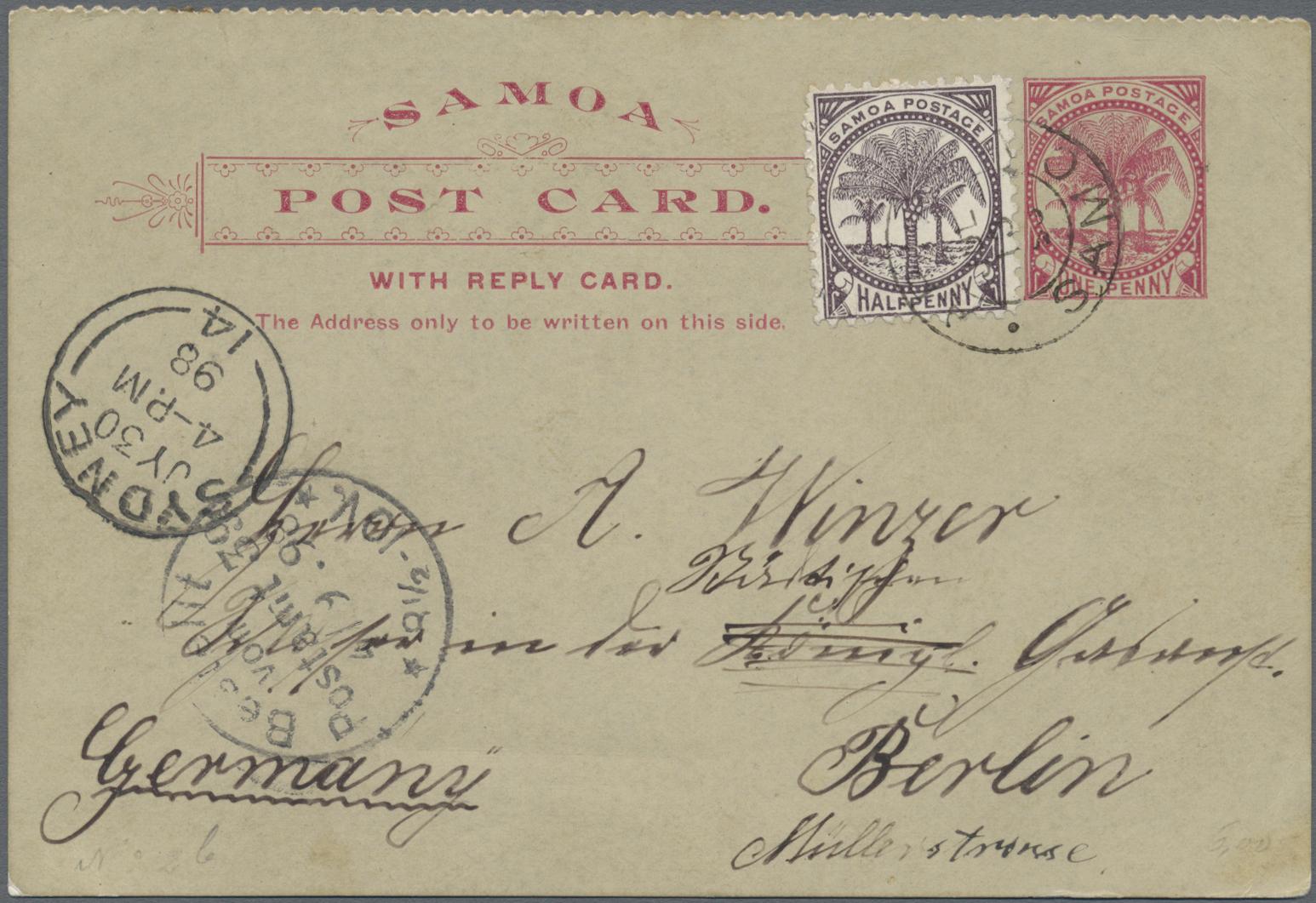 Lot 1354 - Deutsche Kolonien - Samoa - Ganzsachen  -   Auction #211