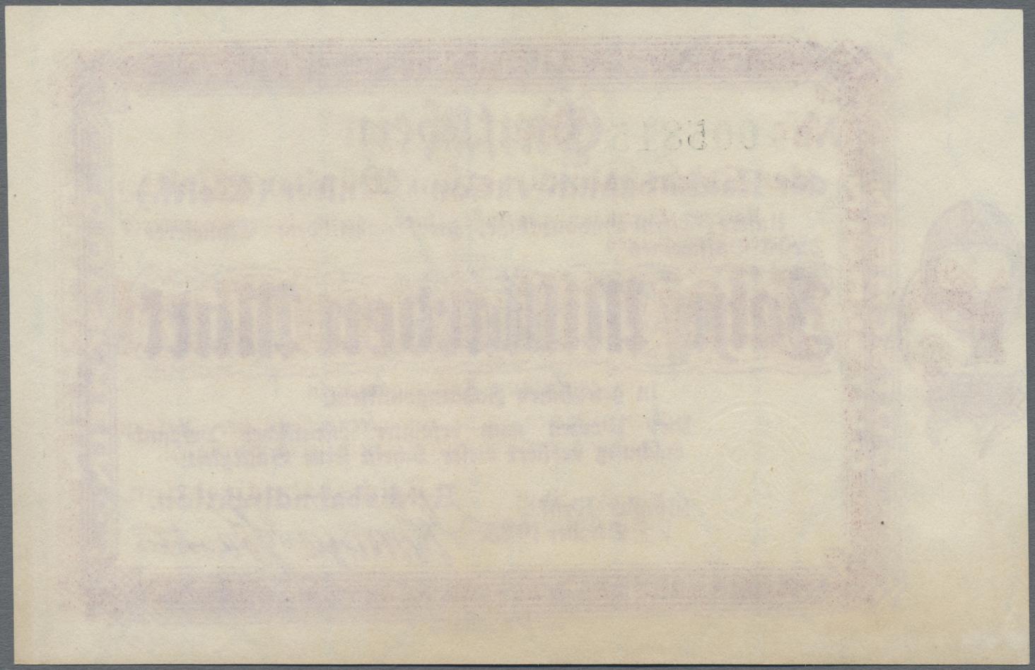 Lot 01409 - Deutschland - Reichsbahn / Reichspost | Banknoten  -  Auktionshaus Christoph Gärtner GmbH & Co. KG Sale #48 The Banknotes