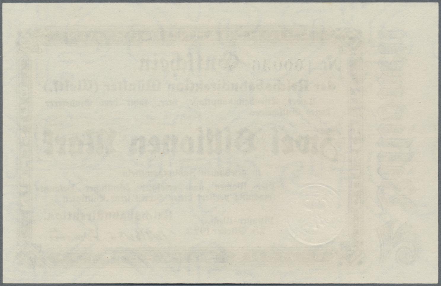 Lot 01416 - Deutschland - Reichsbahn / Reichspost   Banknoten  -  Auktionshaus Christoph Gärtner GmbH & Co. KG Sale #48 The Banknotes