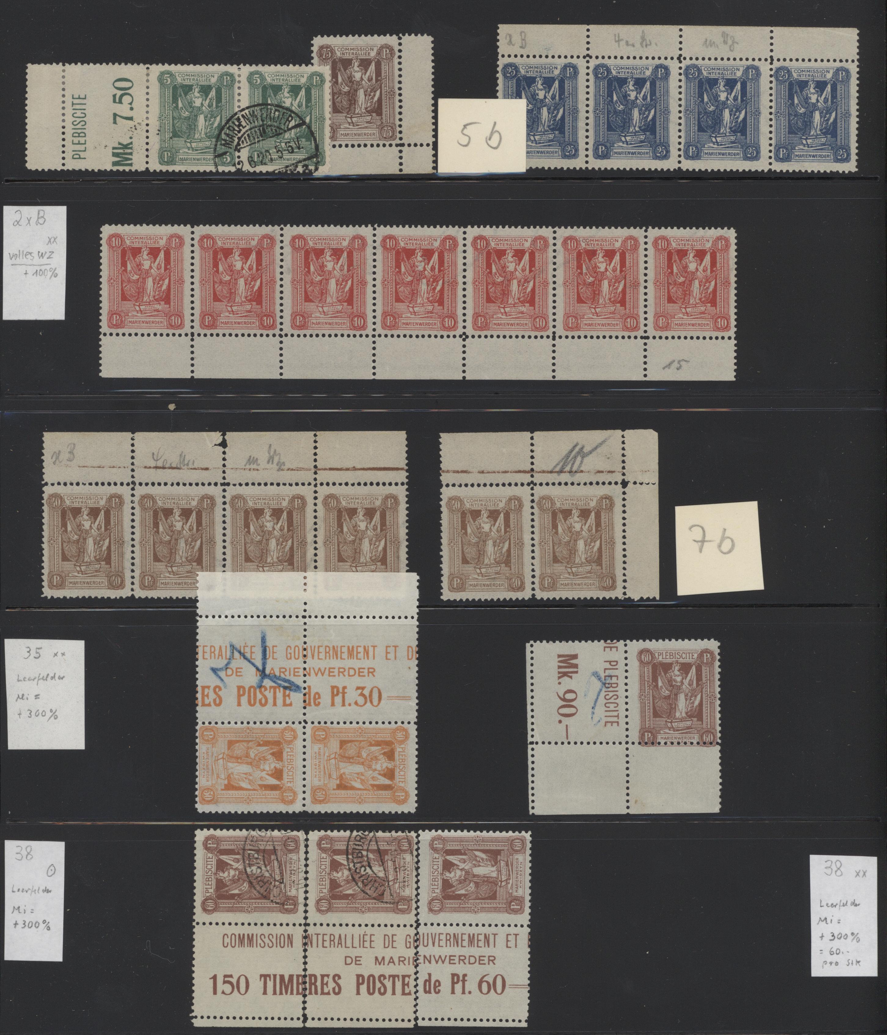 Lot 37008 - Deutsche Abstimmungsgebiete: Marienwerder  -  Auktionshaus Christoph Gärtner GmbH & Co. KG Sale #44 Collections Germany
