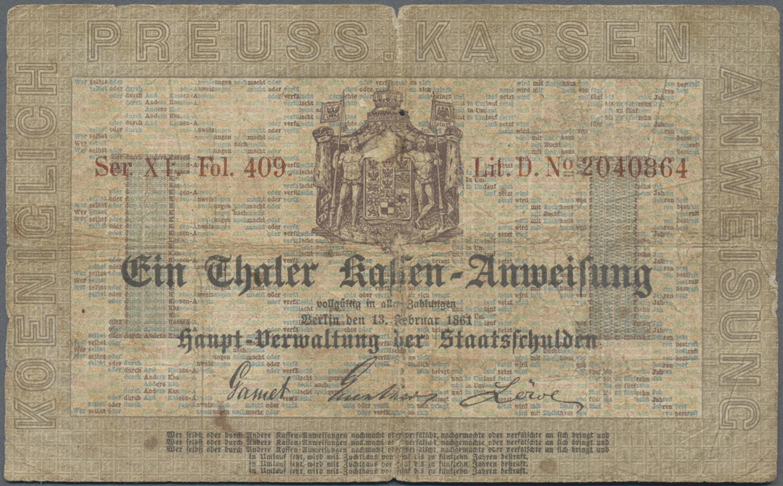 Lot 03304 - Deutschland - Altdeutsche Staaten | Banknoten  -  Auktionshaus Christoph Gärtner GmbH & Co. KG Sale #45 Banknotes Germany/Numismatics