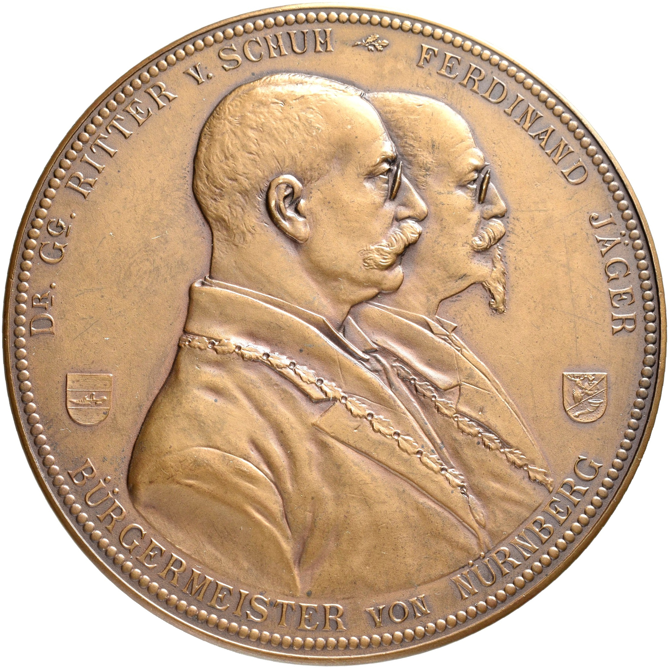 Lot 02418 - Medaillen Deutschland - Geographisch | Münzen  -  Auktionshaus Christoph Gärtner GmbH & Co. KG Sale #48 The Coins & The Picture Post Cards