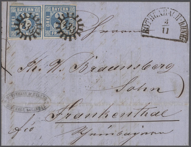 Lot 22790 - Bayern - Marken und Briefe  -  Auktionshaus Christoph Gärtner GmbH & Co. KG 50th Auction Anniversary Auction - Day 7