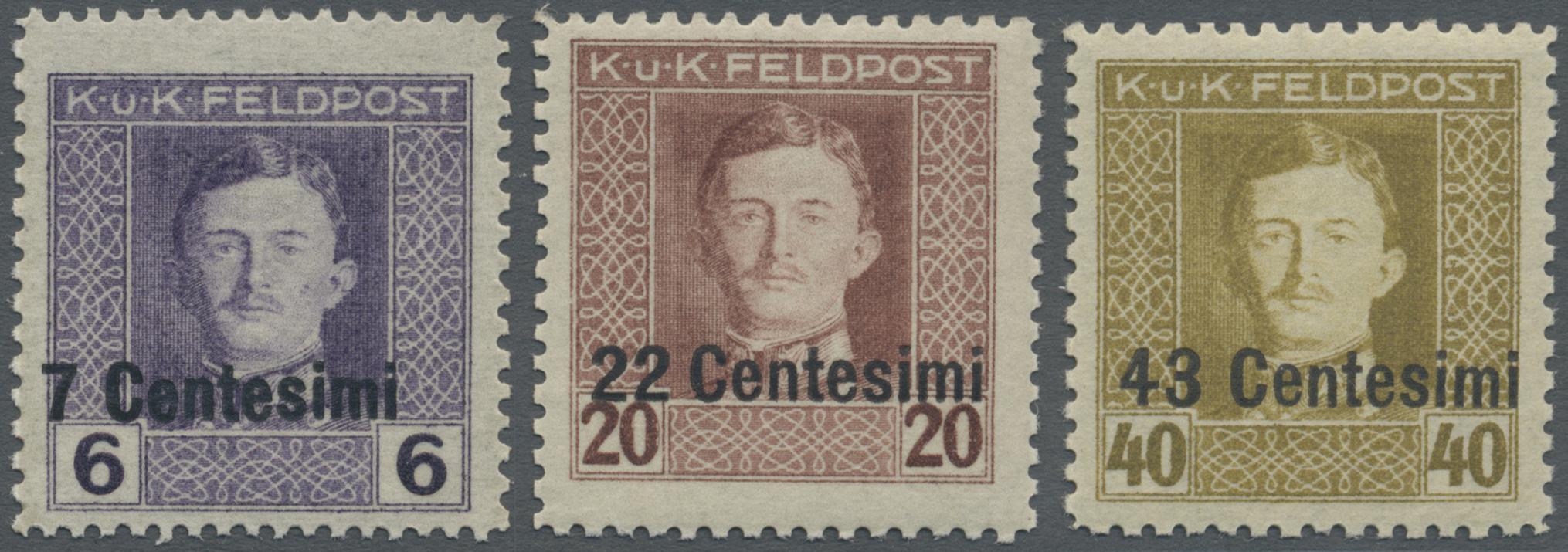 Lot 18205 - Österreichisch-Ungarische Feldpost - Italien  -  Auktionshaus Christoph Gärtner GmbH & Co. KG Single lots Philately Overseas & Europe. Auction #39 Day 4