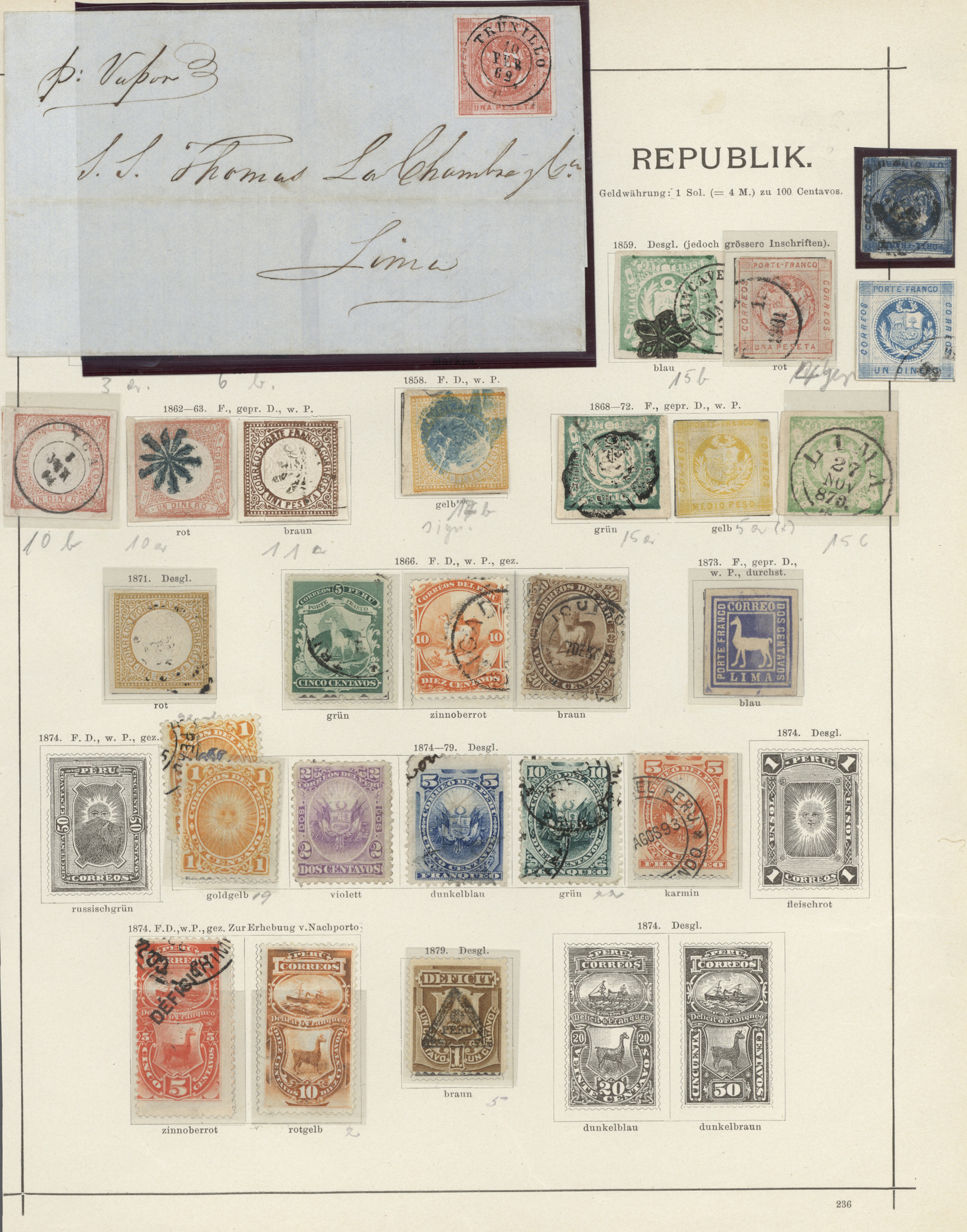 Lot 19855 - Peru  -  Auktionshaus Christoph Gärtner GmbH & Co. KG Sale #47 Collections: Overseas, Thematics, Europe