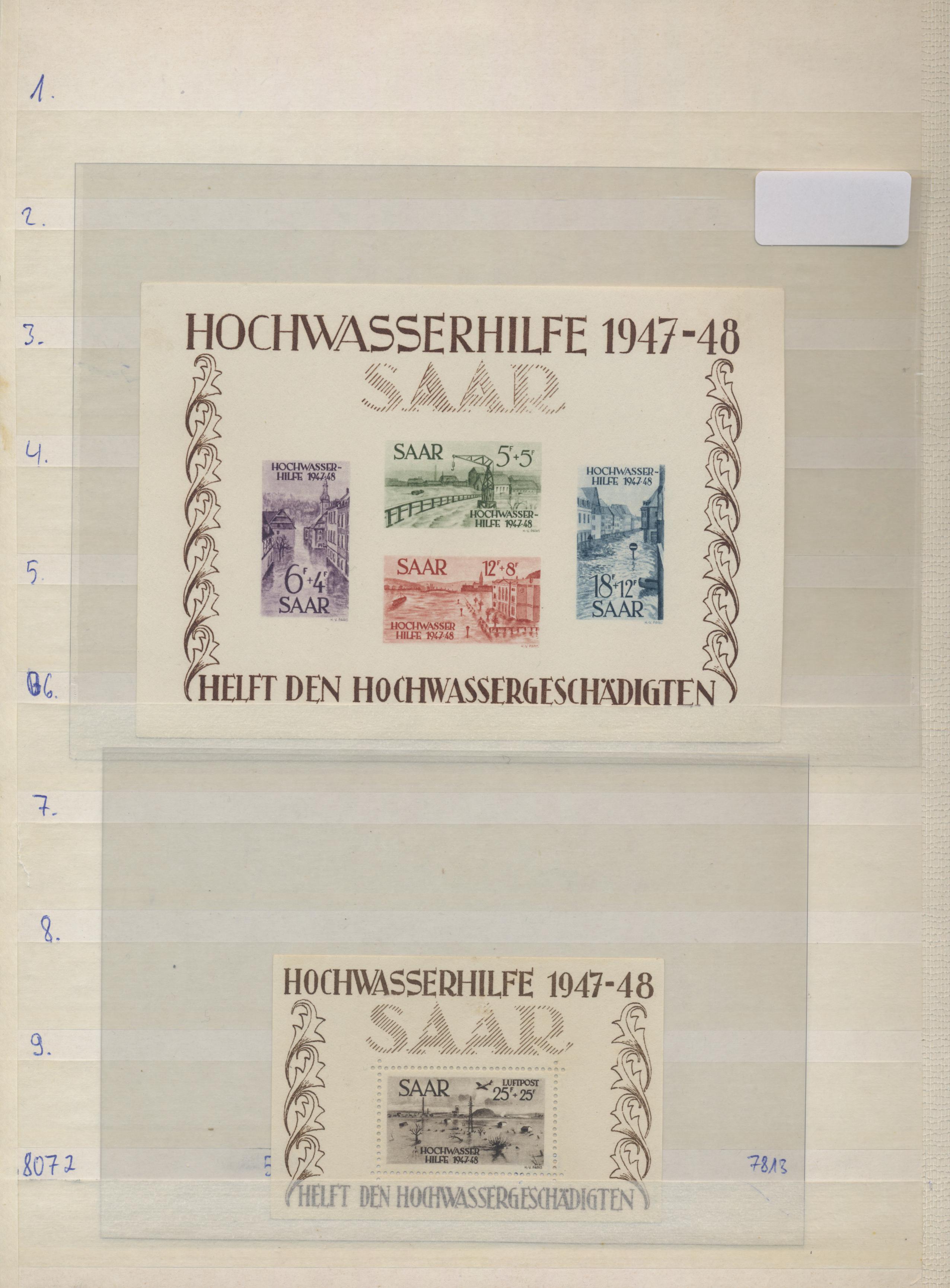 Lot 14747 - Deutsche Abstimmungsgebiete: Saargebiet  -  Auktionshaus Christoph Gärtner GmbH & Co. KG 51th Auction - Day 5