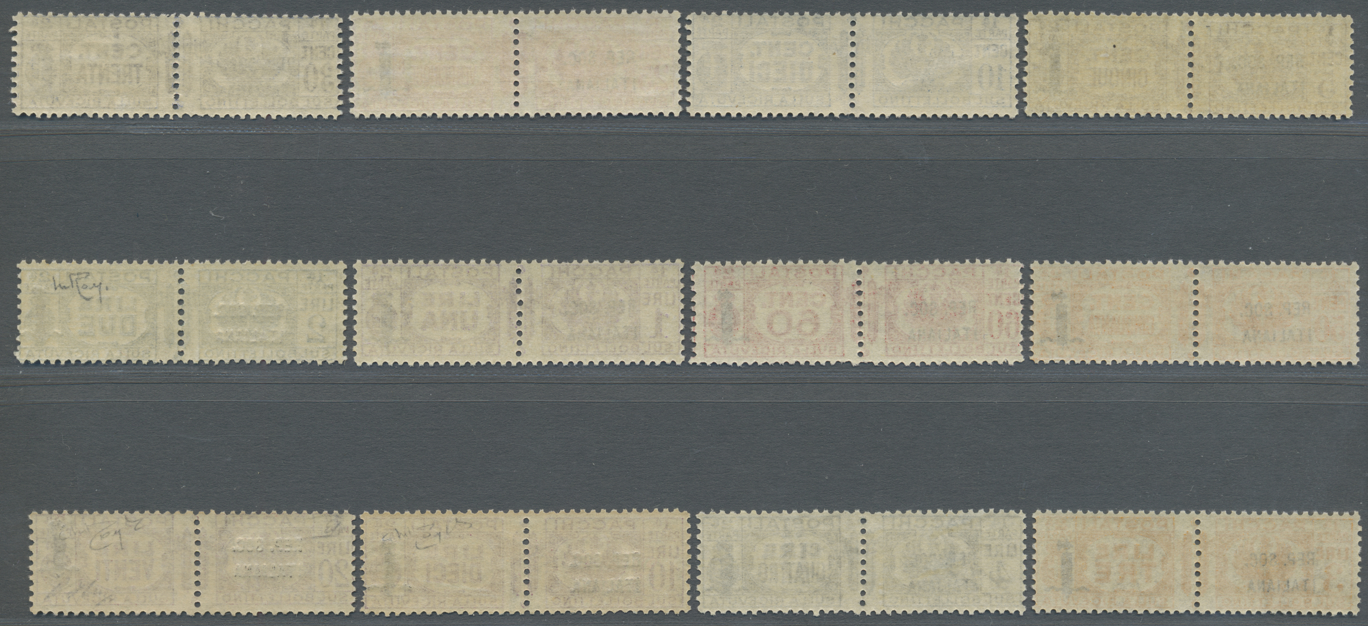 Lot 17099 - italien - paketmarken  -  Auktionshaus Christoph Gärtner GmbH & Co. KG Single lots Philately Overseas & Europe. Auction #39 Day 4