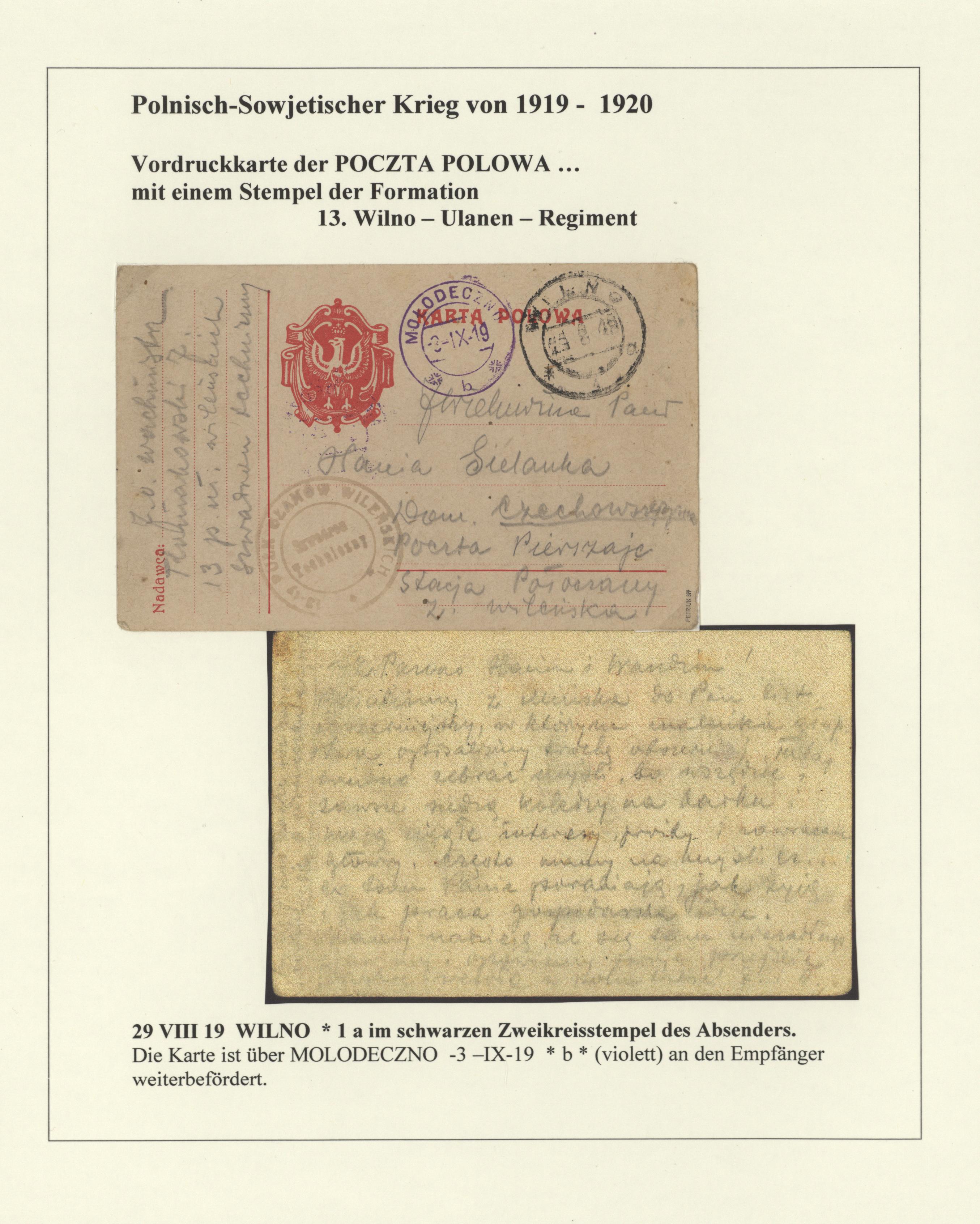 Stamp Auction Polen Besonderheiten Auction 40 Europe Lot 27735