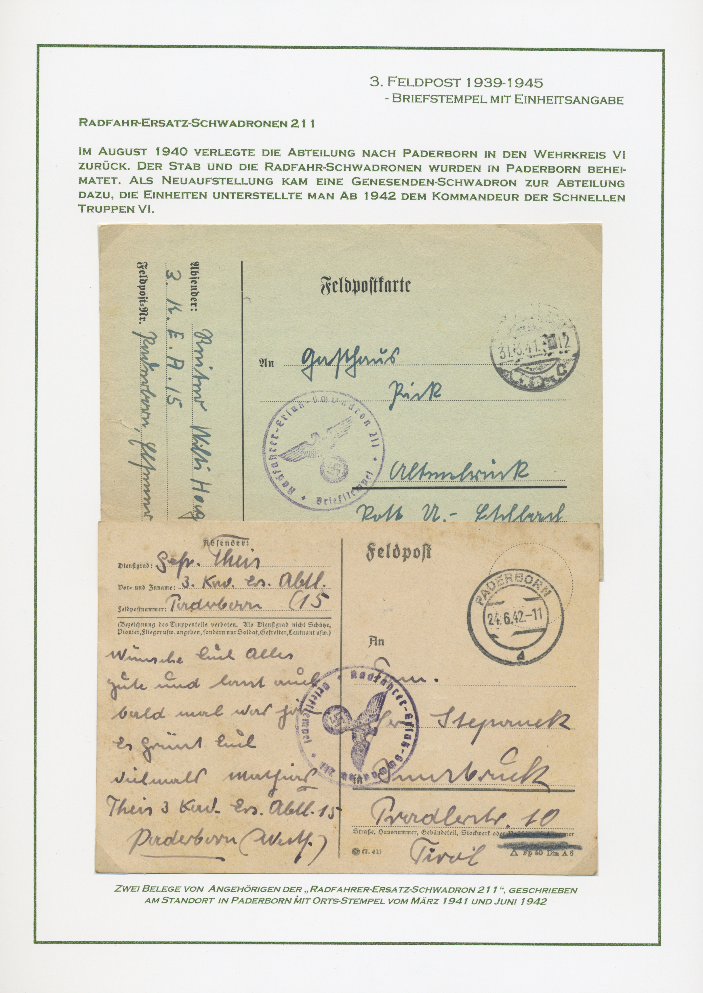 Lot 37588 - feldpost 2. weltkrieg  -  Auktionshaus Christoph Gärtner GmbH & Co. KG Collections Germany,  Collections Supplement, Surprise boxes #39 Day 7