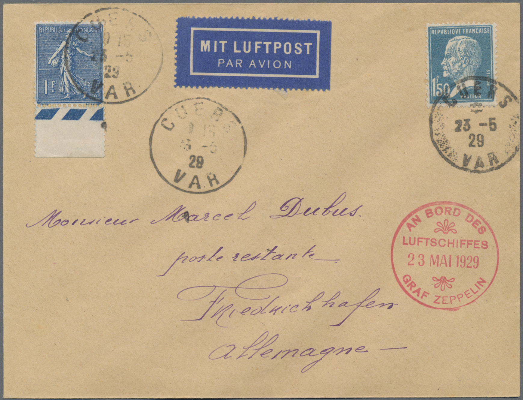 Lot 13240 - zeppelinpost europa  -  Auktionshaus Christoph Gärtner GmbH & Co. KG Sale #47 Single lots: Asia, Thematics, Overseas, Europe