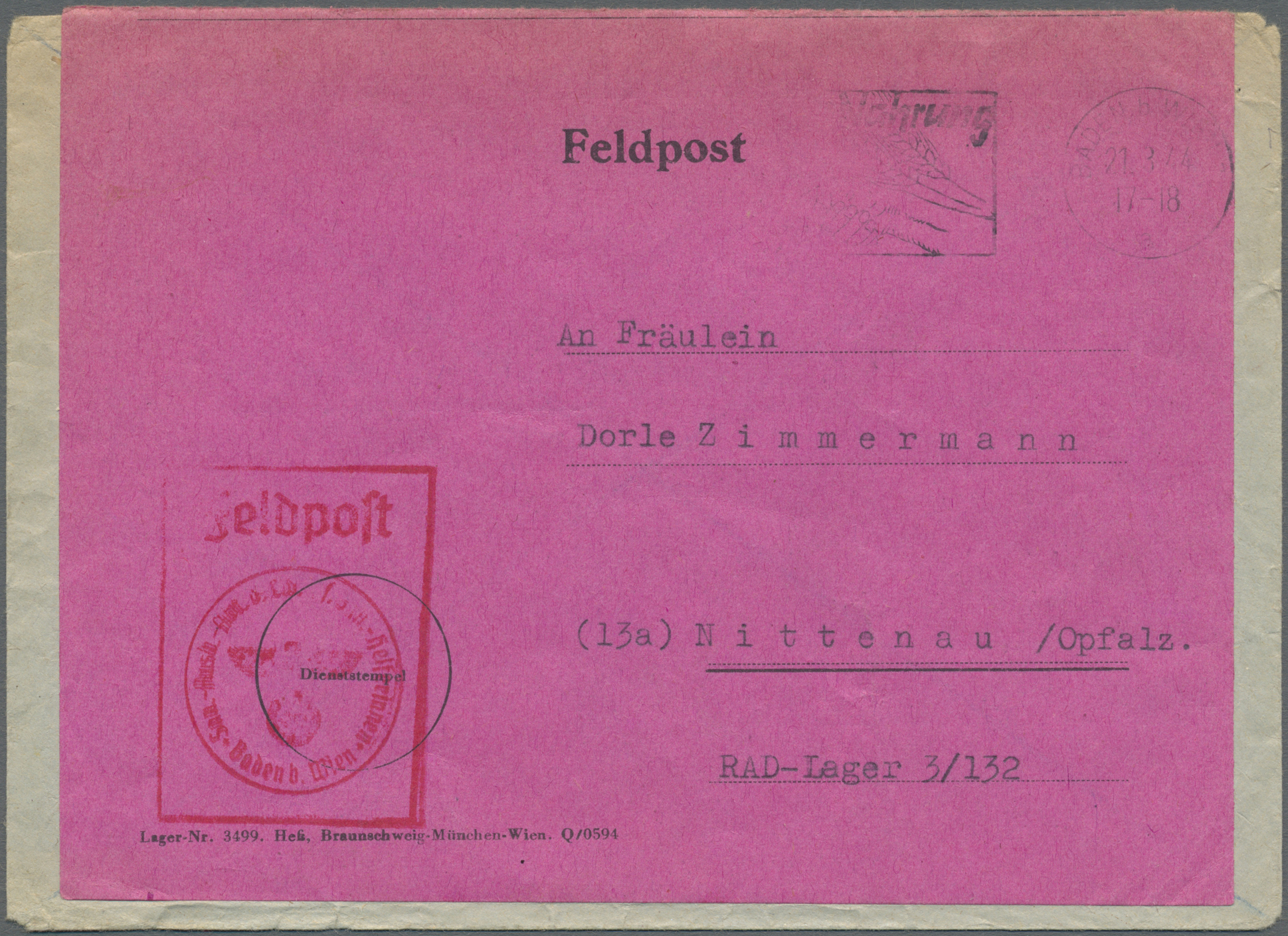 Lot 37579 - feldpost 2. weltkrieg  -  Auktionshaus Christoph Gärtner GmbH & Co. KG Collections Germany,  Collections Supplement, Surprise boxes #39 Day 7