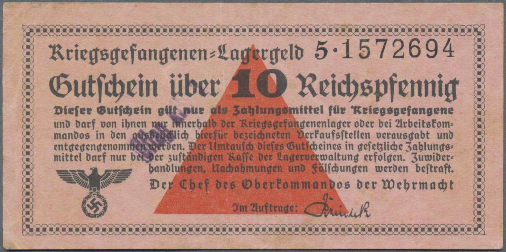 Lot 01394 - Deutschland - Konzentrations- und Kriegsgefangenenlager | Banknoten  -  Auktionshaus Christoph Gärtner GmbH & Co. KG Sale #48 The Banknotes