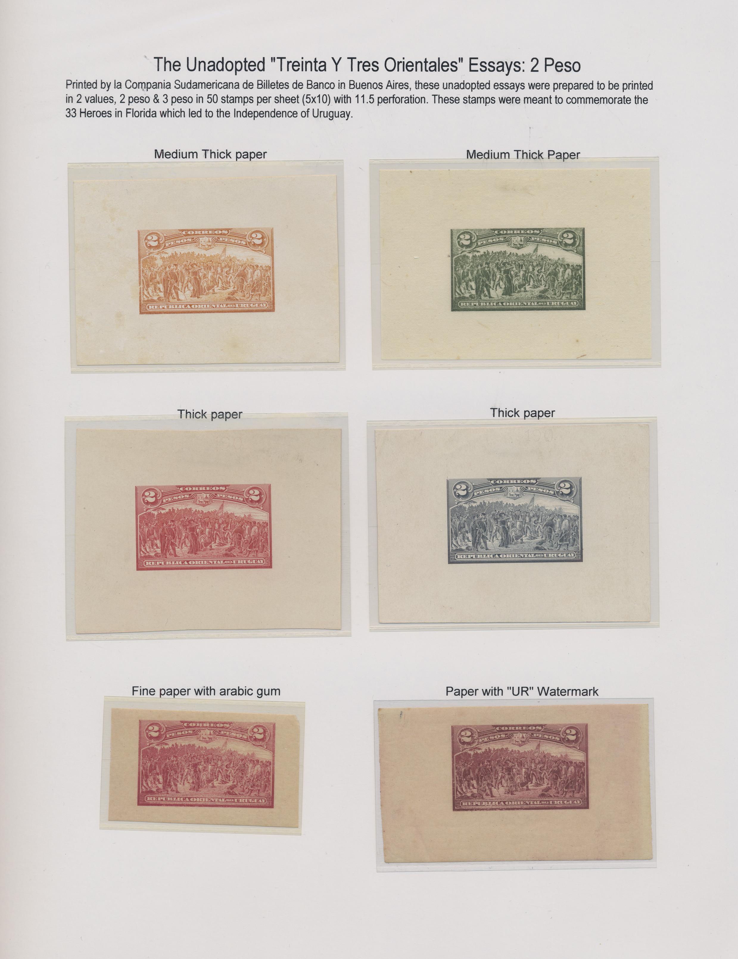 Lot 07620 - Uruguay  -  Auktionshaus Christoph Gärtner GmbH & Co. KG Sale #48 The Single Lots Philatelie