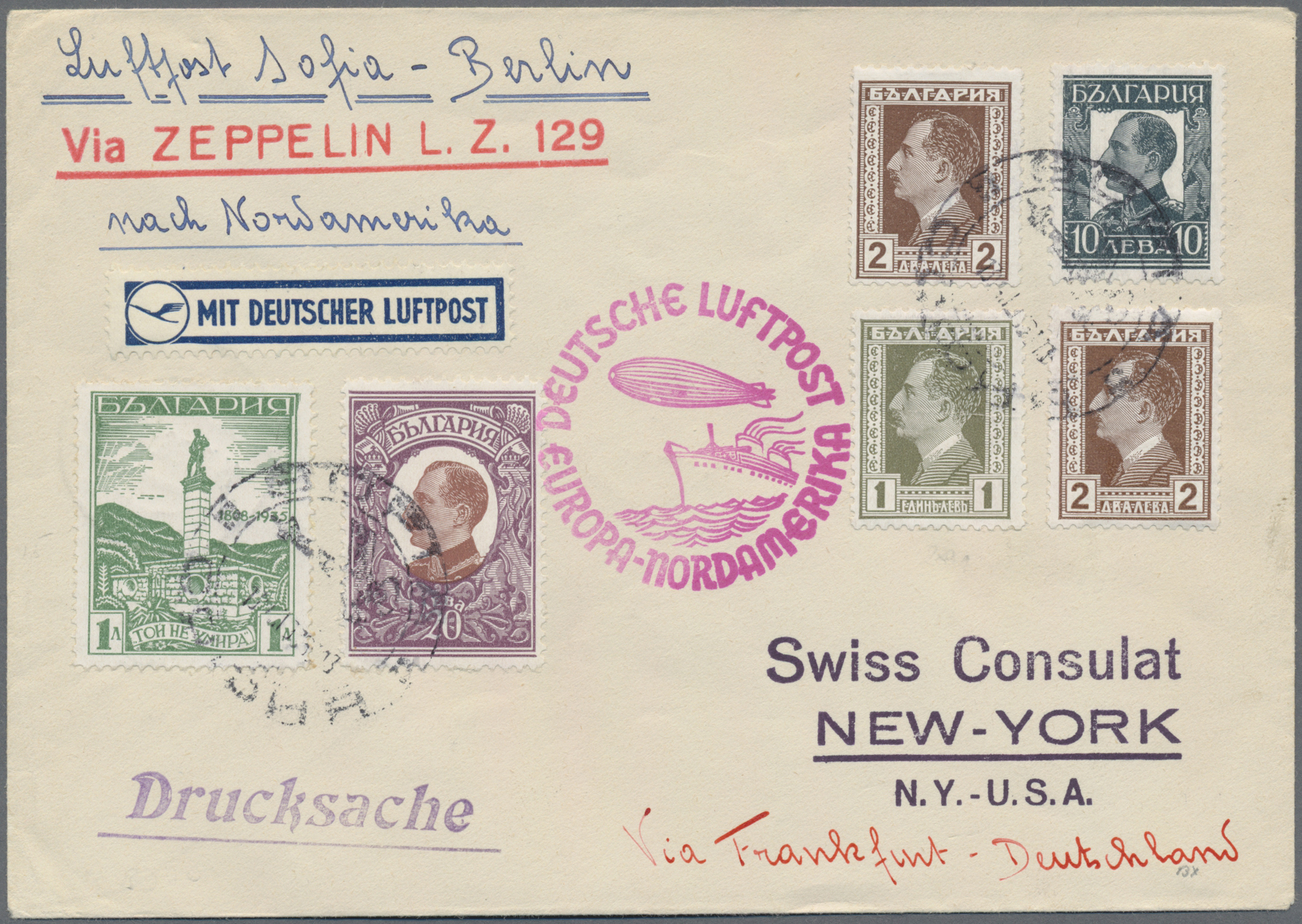 Lot 13394 - zeppelinpost europa  -  Auktionshaus Christoph Gärtner GmbH & Co. KG Sale #47 Single lots: Asia, Thematics, Overseas, Europe