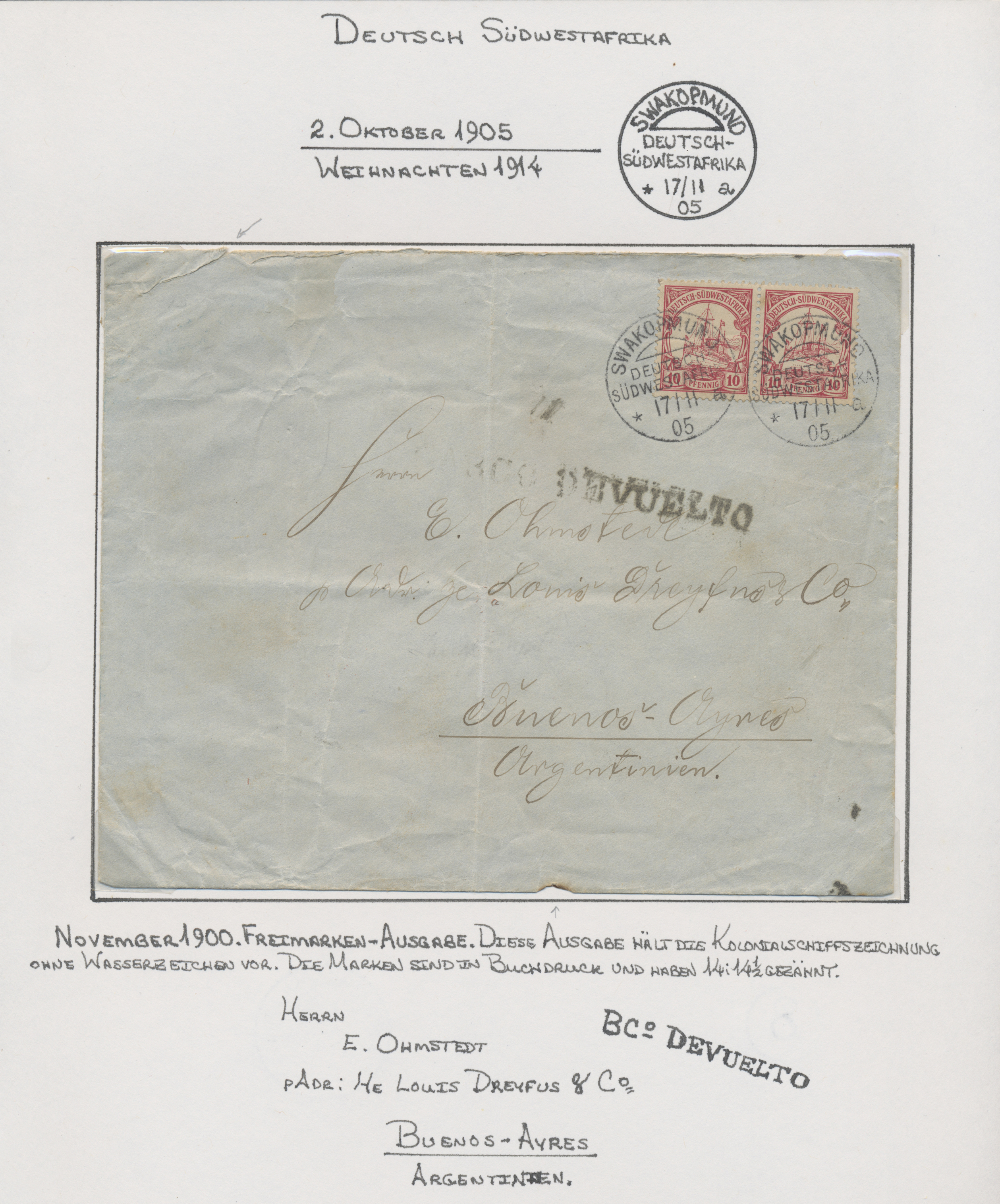 Lot 36941 - deutsch-südwestafrika  -  Auktionshaus Christoph Gärtner GmbH & Co. KG Sale #44 Collections Germany