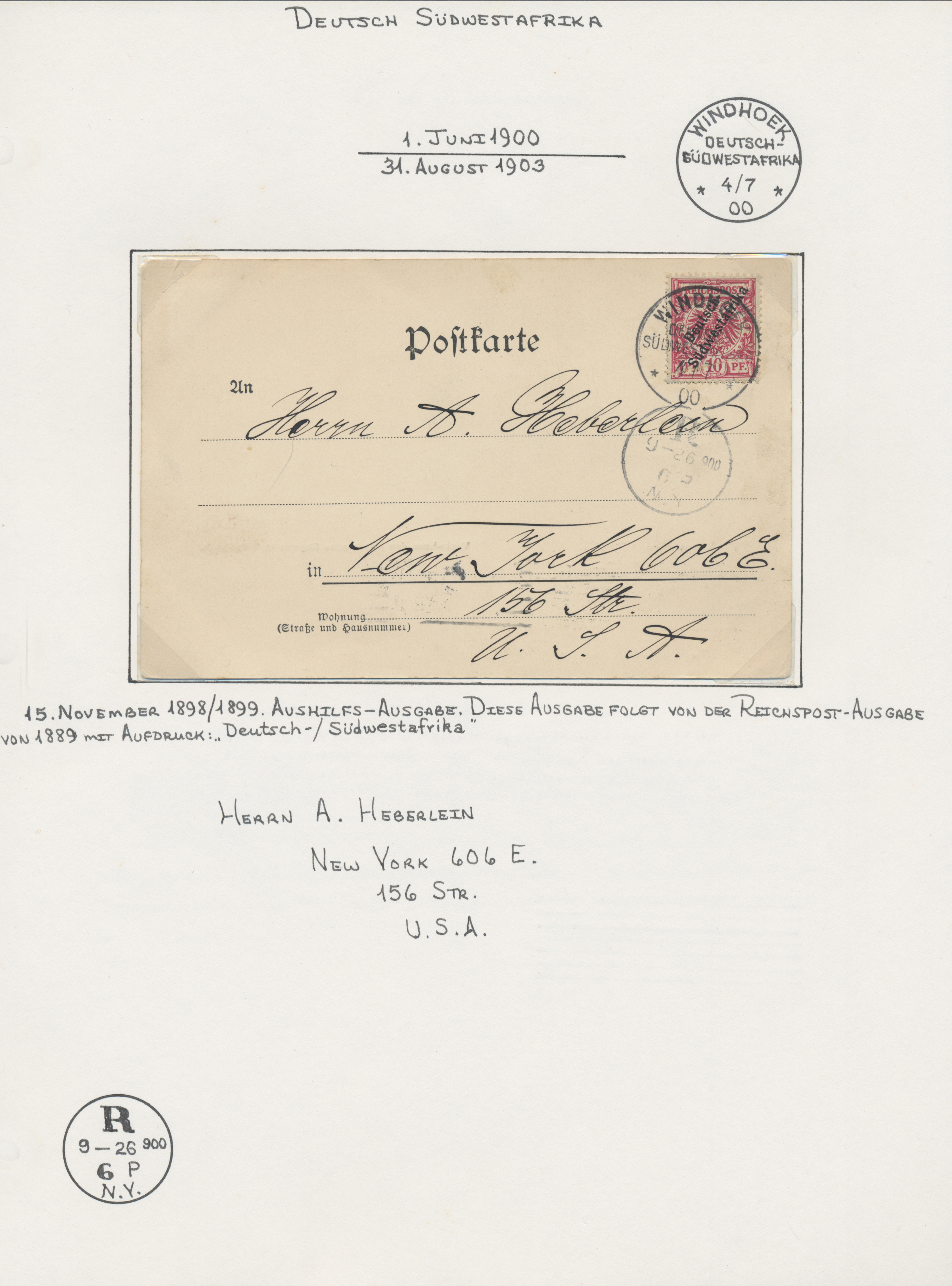 Lot 36942 - deutsch-südwestafrika  -  Auktionshaus Christoph Gärtner GmbH & Co. KG Sale #44 Collections Germany
