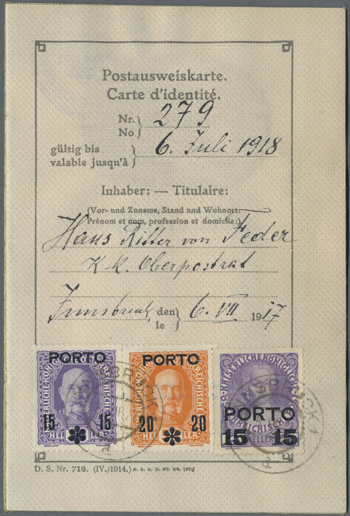 Lot 18125 - Österreich - Portomarken  -  Auktionshaus Christoph Gärtner GmbH & Co. KG Single lots Philately Overseas & Europe. Auction #39 Day 4