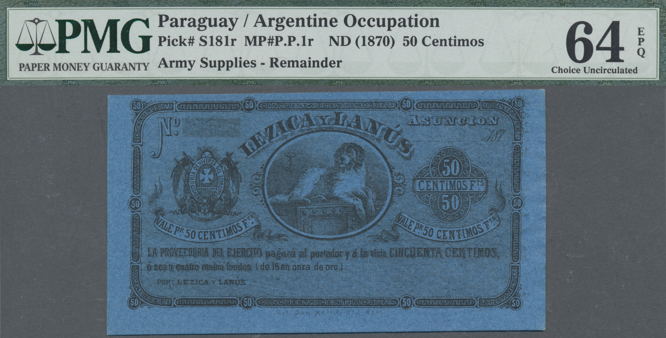 Lot 00595 - Paraguay | Banknoten  -  Auktionshaus Christoph Gärtner GmbH & Co. KG Sale #48 The Banknotes