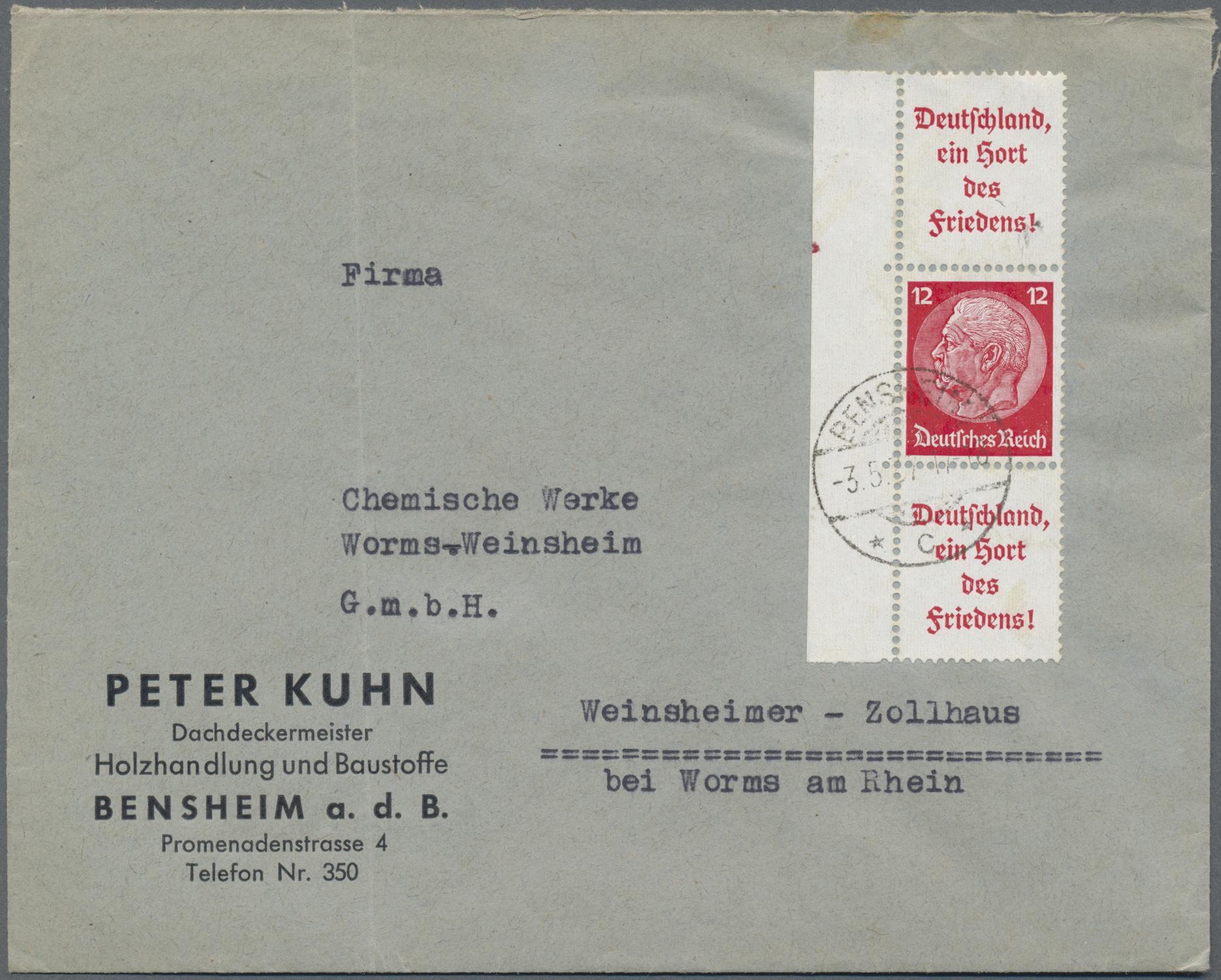 Lot 36781 - Deutsches Reich - Zusammendrucke  -  Auktionshaus Christoph Gärtner GmbH & Co. KG Sale #44 Collections Germany