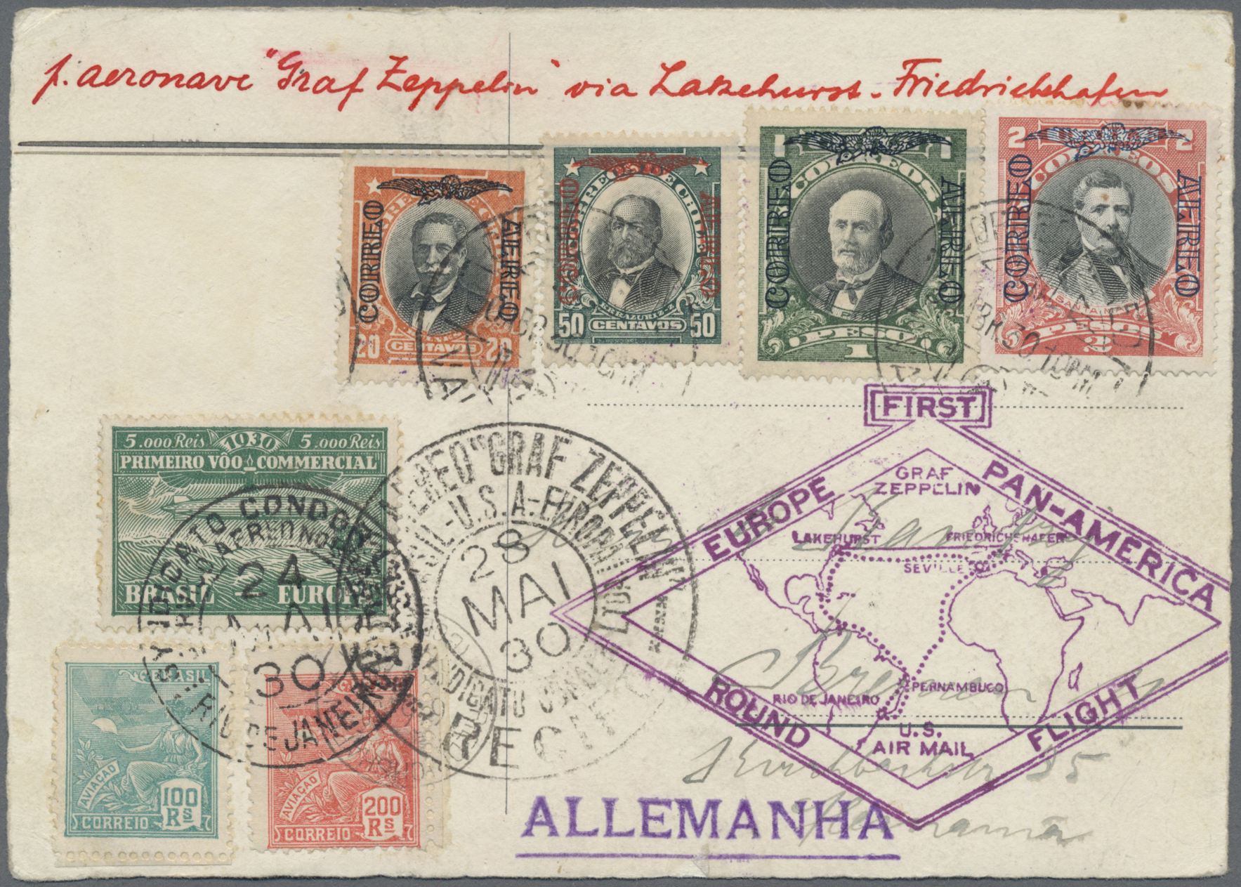 Lot 00158 - zeppelinpost übersee  -  Auktionshaus Christoph Gärtner GmbH & Co. KG 50th Auction Anniversary Auction - Day 8
