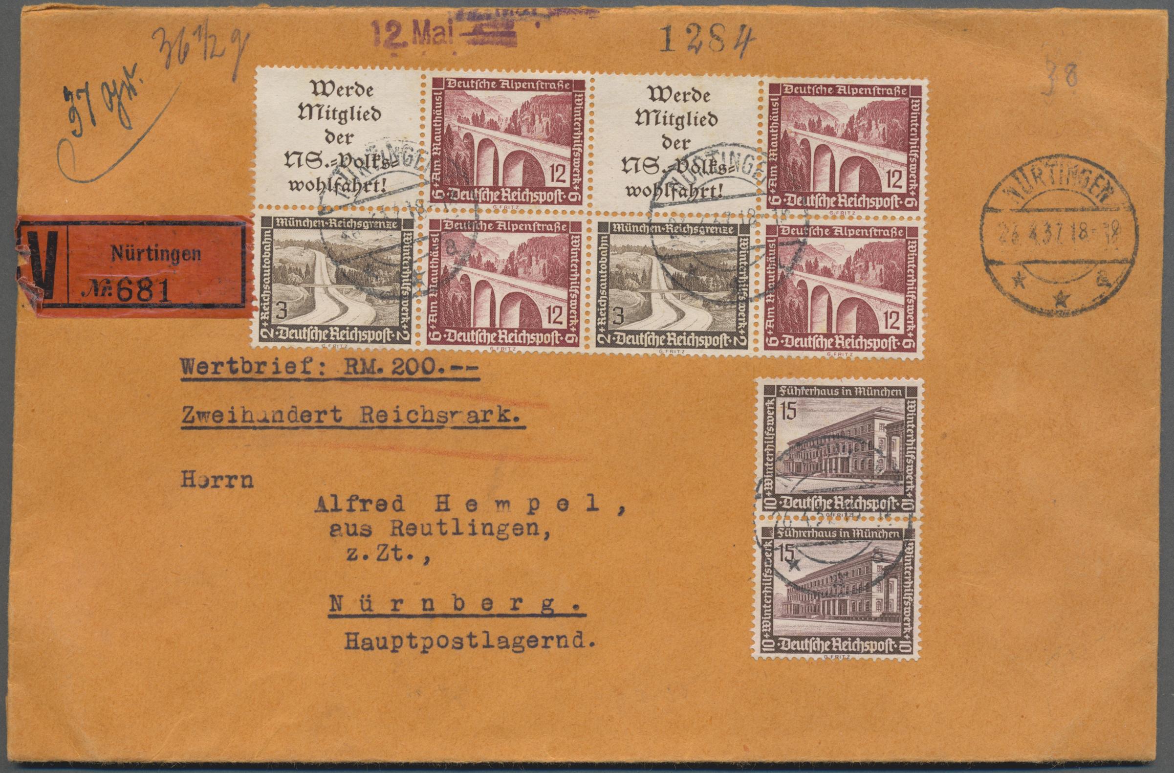 Lot 36780 - Deutsches Reich - Zusammendrucke  -  Auktionshaus Christoph Gärtner GmbH & Co. KG Sale #44 Collections Germany