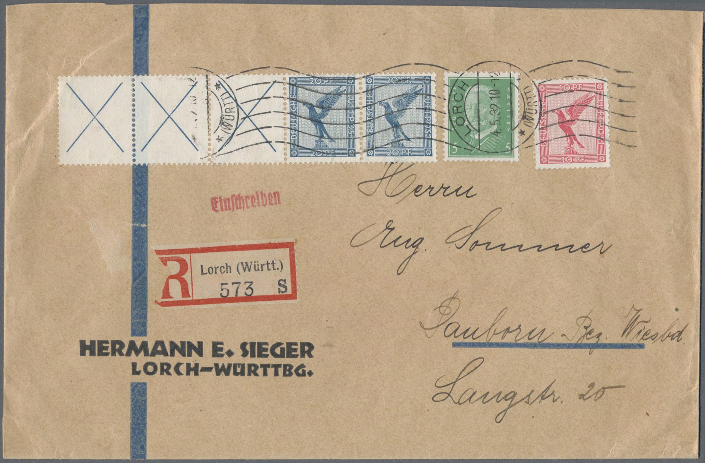 Lot 36771 - Deutsches Reich - Zusammendrucke  -  Auktionshaus Christoph Gärtner GmbH & Co. KG Sale #44 Collections Germany