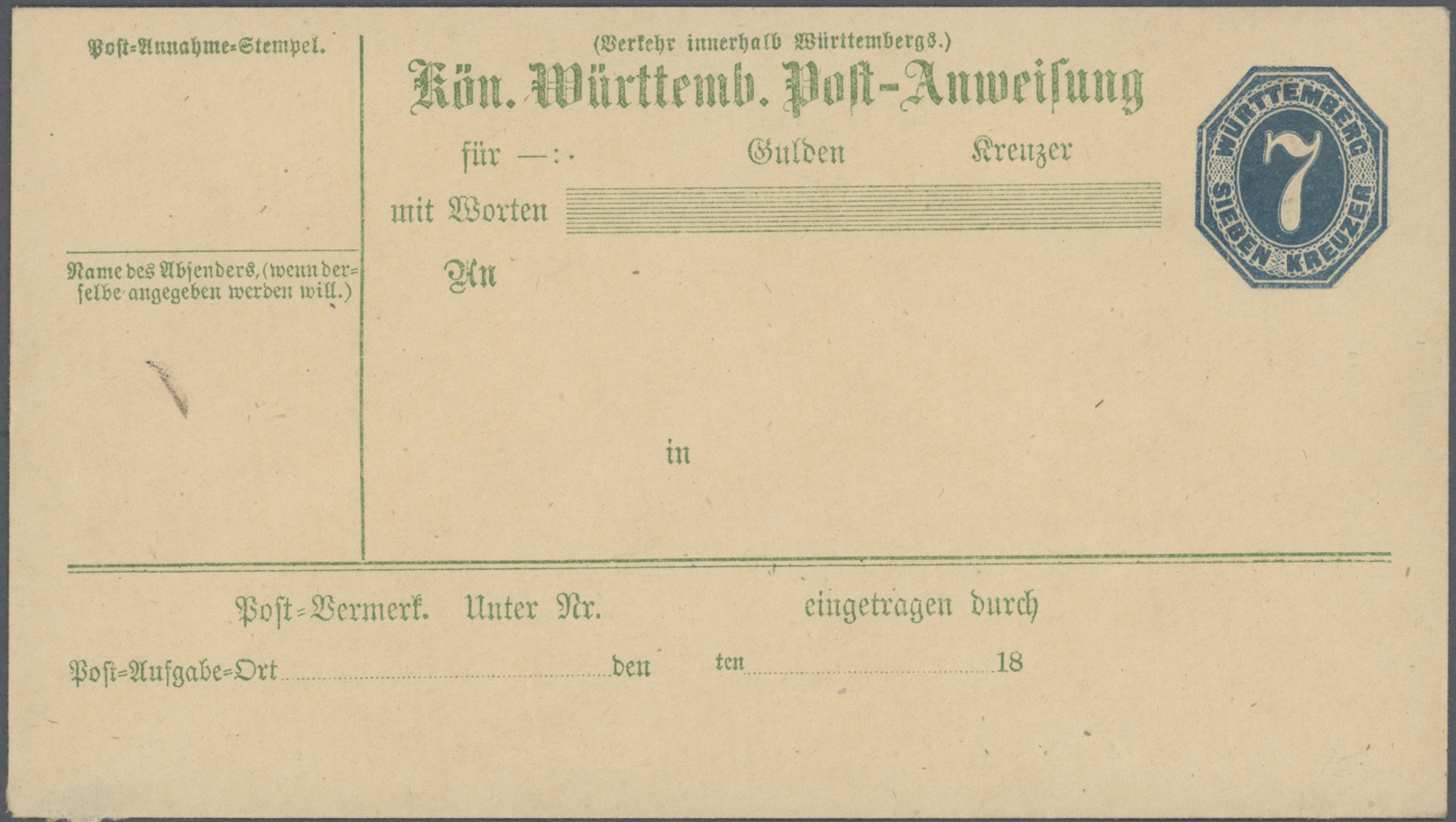 Lot 36562 - württemberg - ganzsachen  -  Auktionshaus Christoph Gärtner GmbH & Co. KG Collections Germany,  Collections Supplement, Surprise boxes #39 Day 7