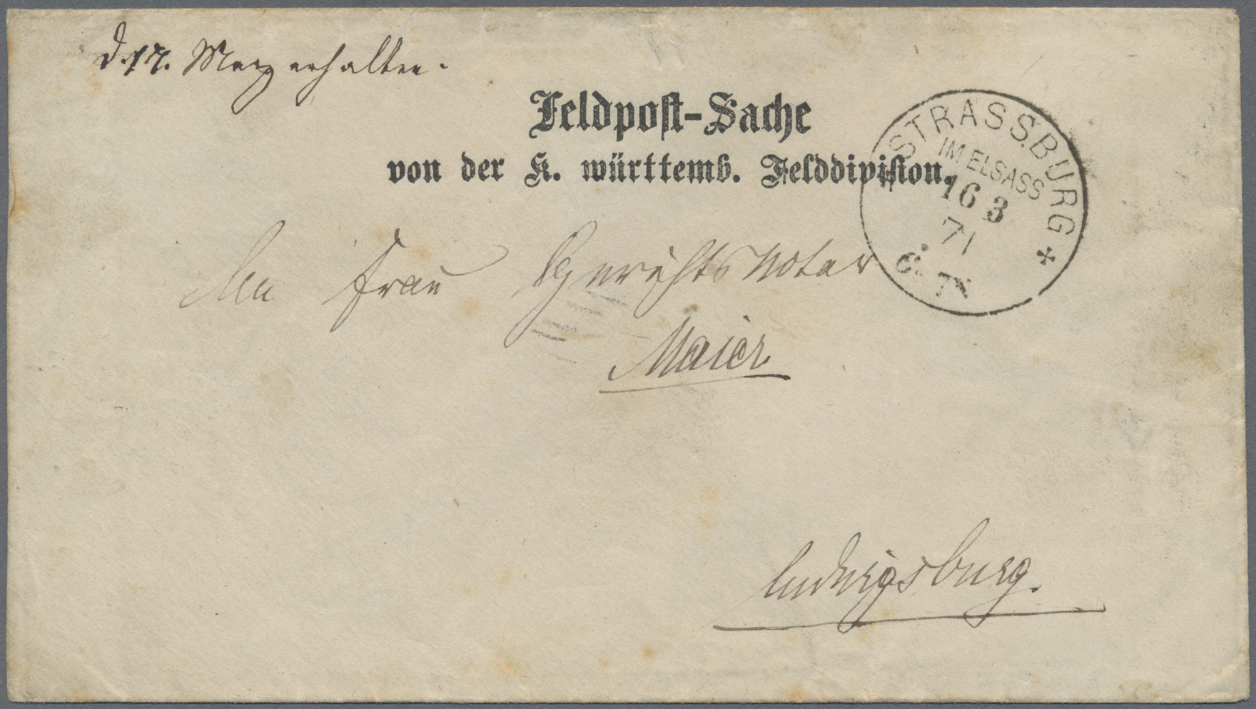 Lot 36589 - Württemberg - Feldpost  -  Auktionshaus Christoph Gärtner GmbH & Co. KG Collections Germany,  Collections Supplement, Surprise boxes #39 Day 7