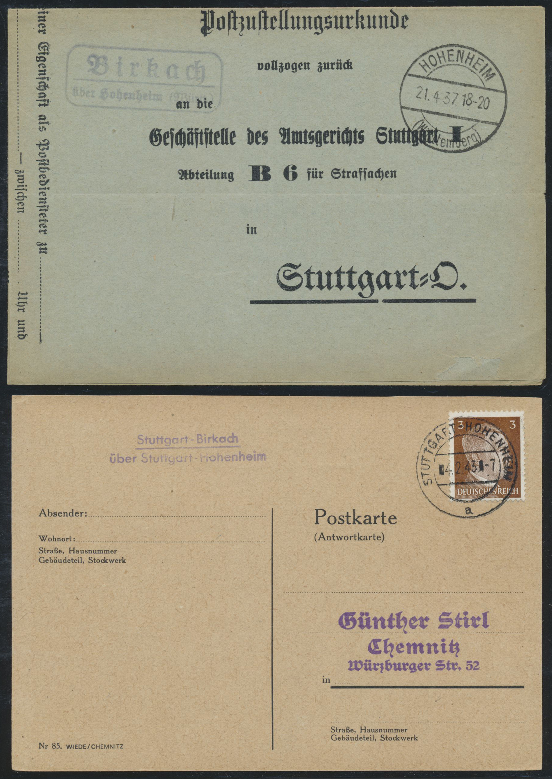 Lot 36581 - württemberg - stempel  -  Auktionshaus Christoph Gärtner GmbH & Co. KG Collections Germany,  Collections Supplement, Surprise boxes #39 Day 7