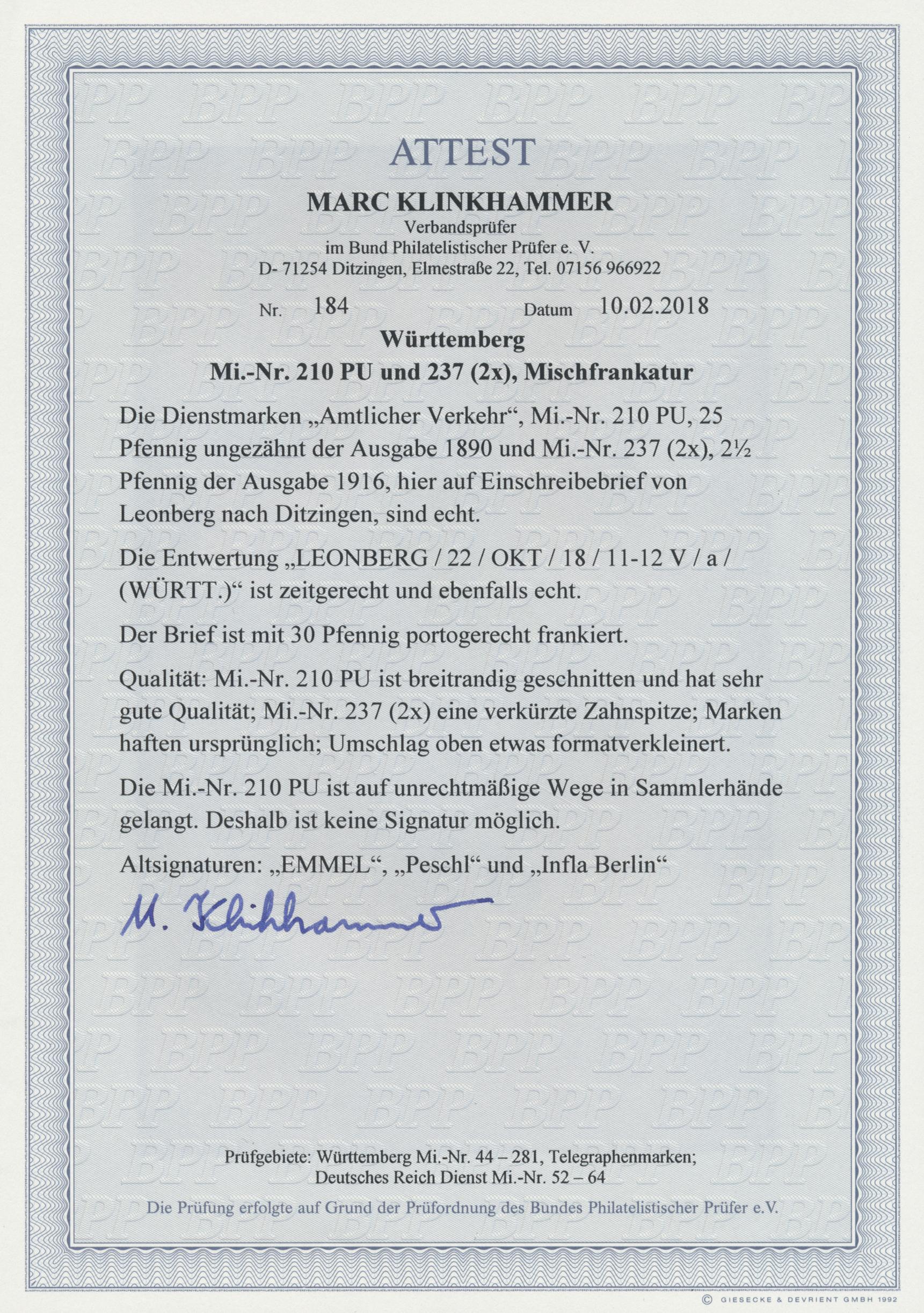 Coin Auction Württemberg Marken Und Briefe Auction 40 Germany