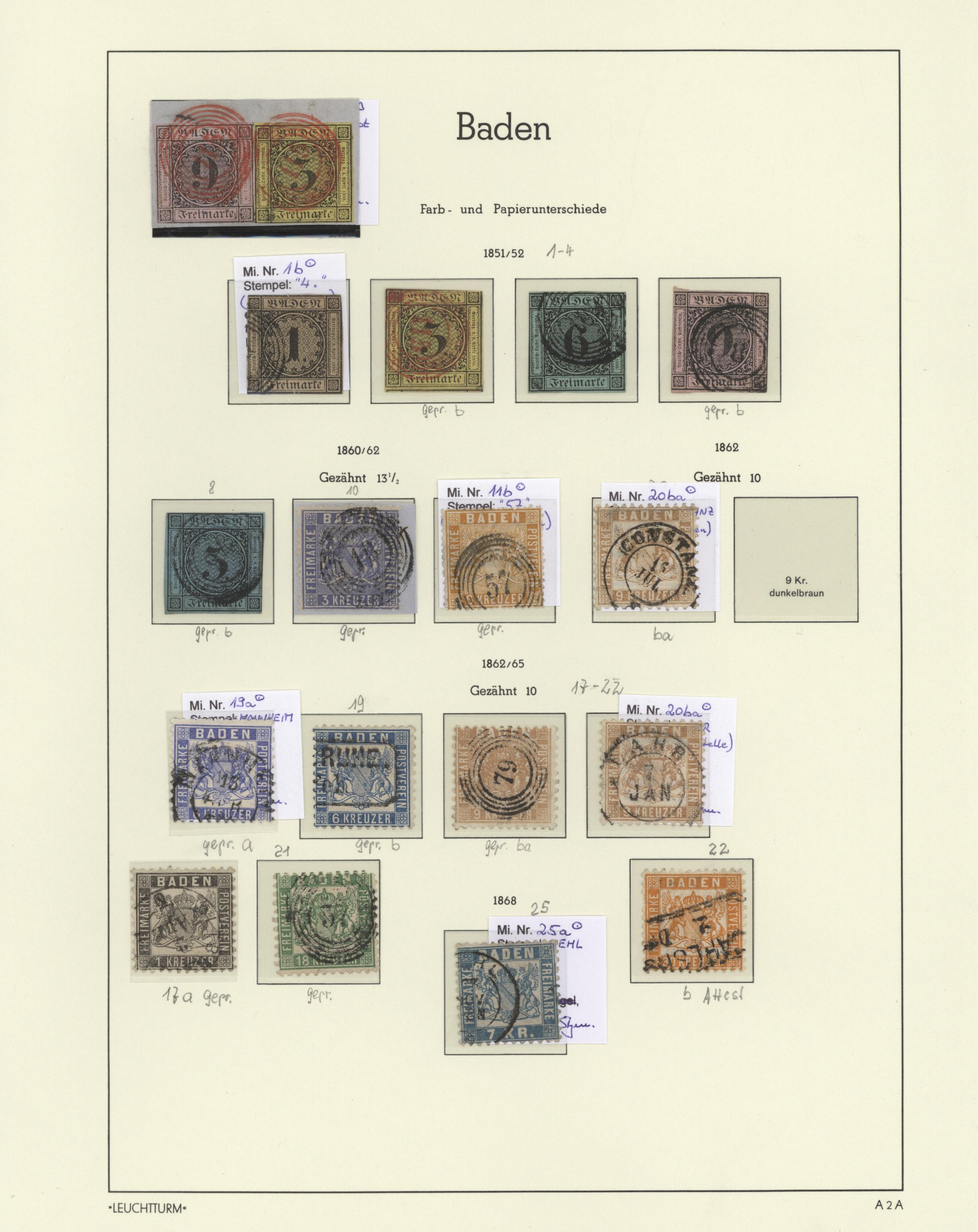 Lot 36151 - Baden - Marken und Briefe  -  Auktionshaus Christoph Gärtner GmbH & Co. KG Sale #44 Collections Germany