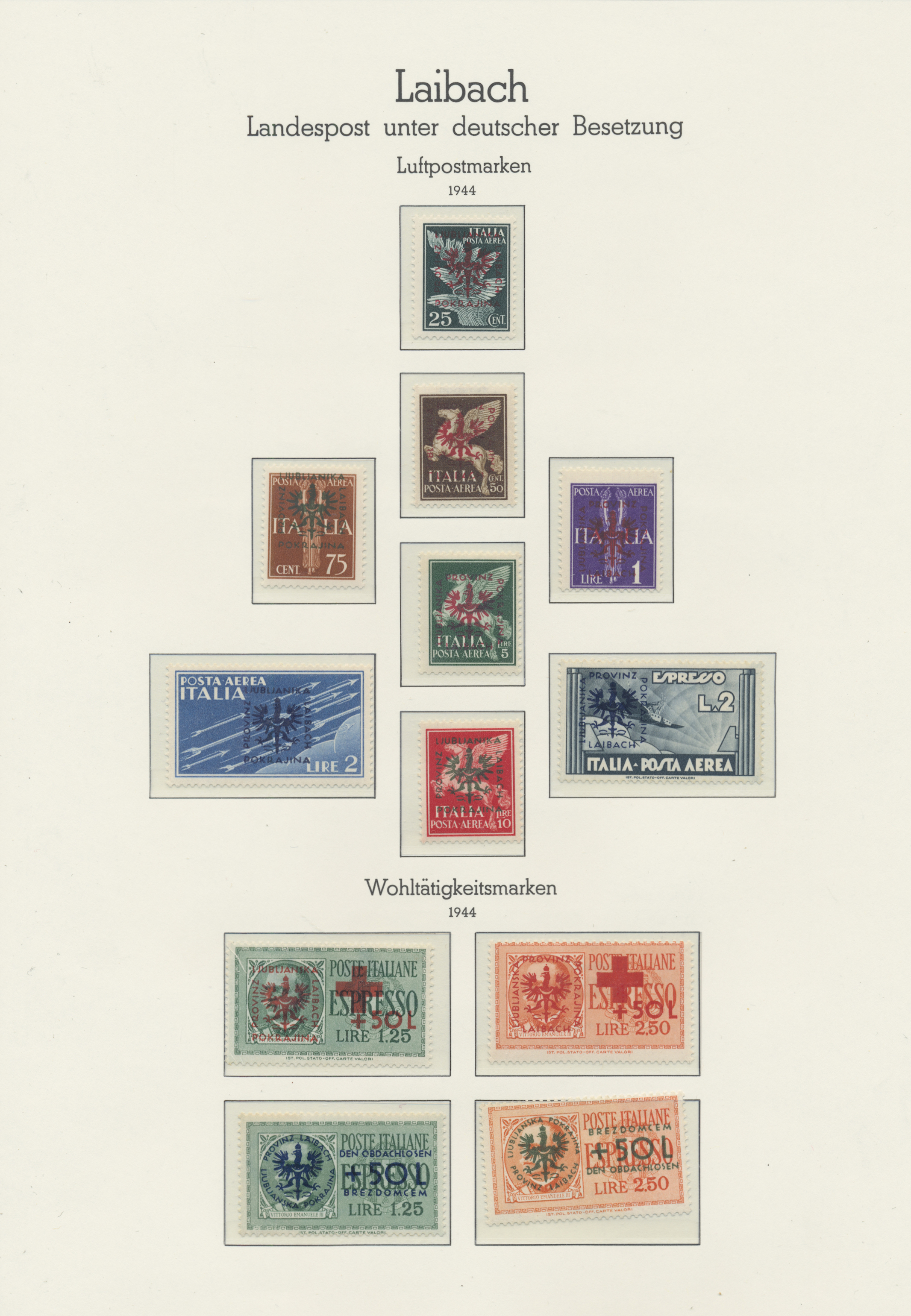 Lot 23762 - Dt. Besetzung II WK - Laibach  -  Auktionshaus Christoph Gärtner GmbH & Co. KG 50th Auction Anniversary Auction - Day 7