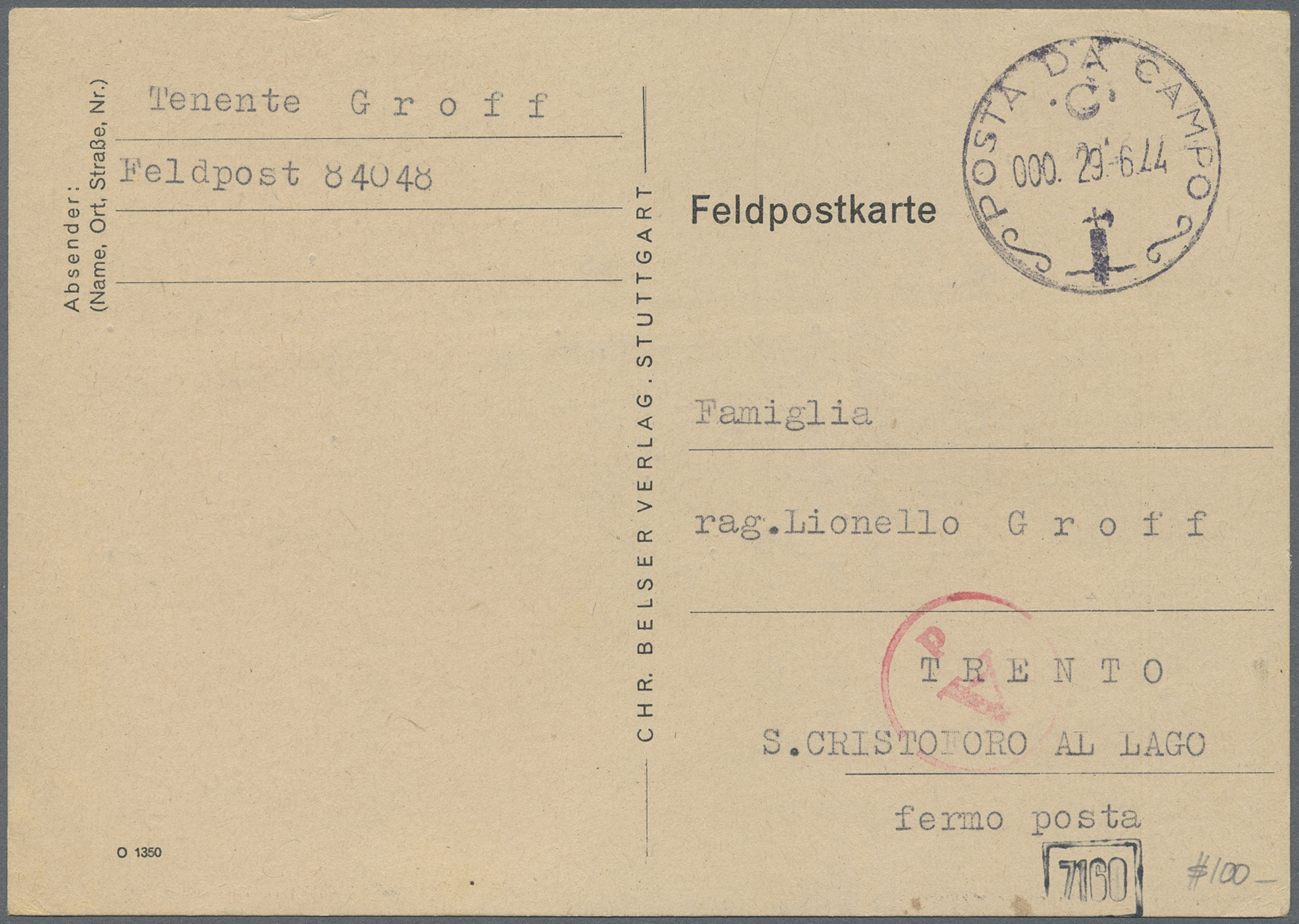 Lot 37155 - feldpost 2. weltkrieg  -  Auktionshaus Christoph Gärtner GmbH & Co. KG Sale #44 Collections Germany