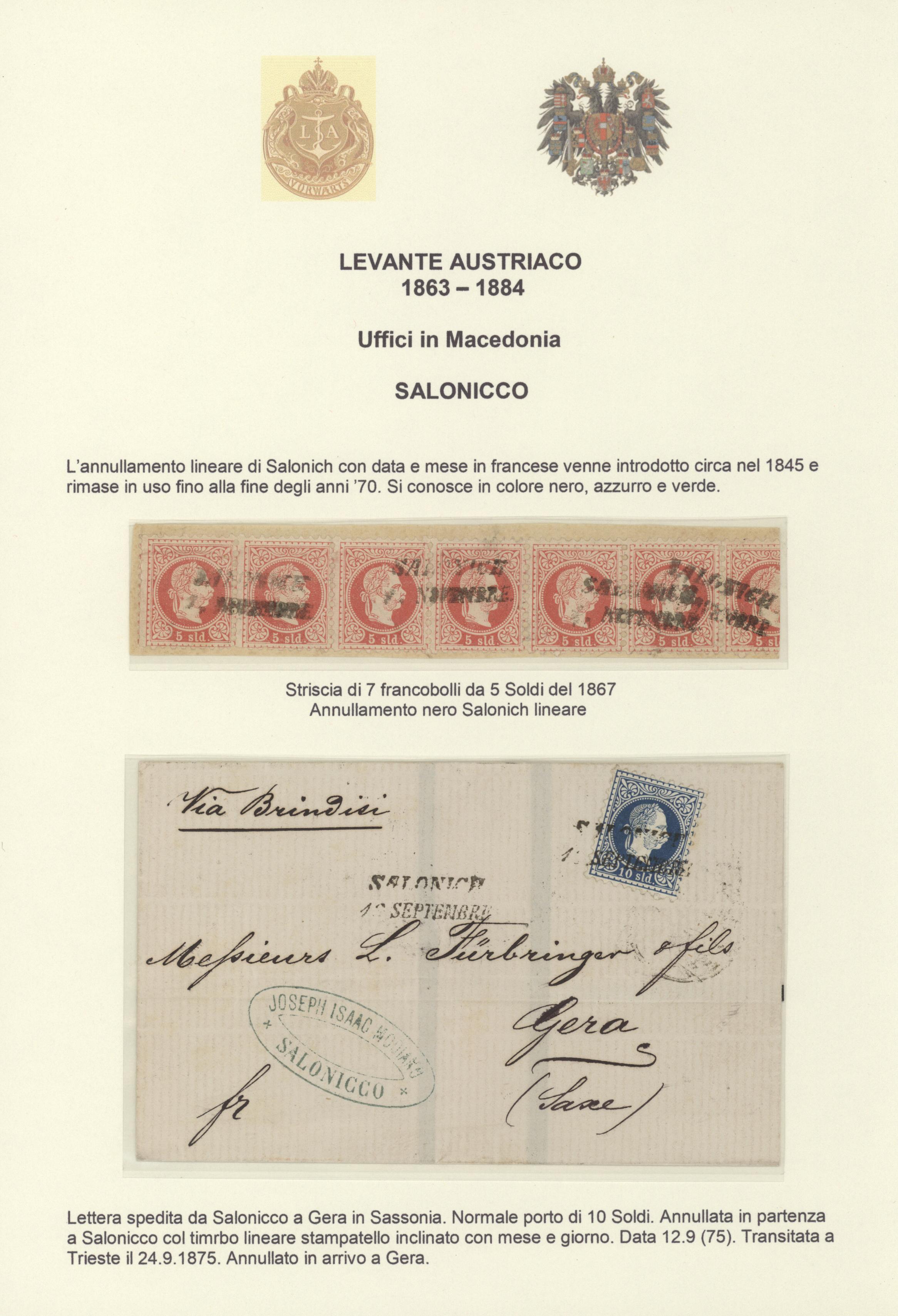 Anni 70 Colori stamp auction - Österreichische post in der levante