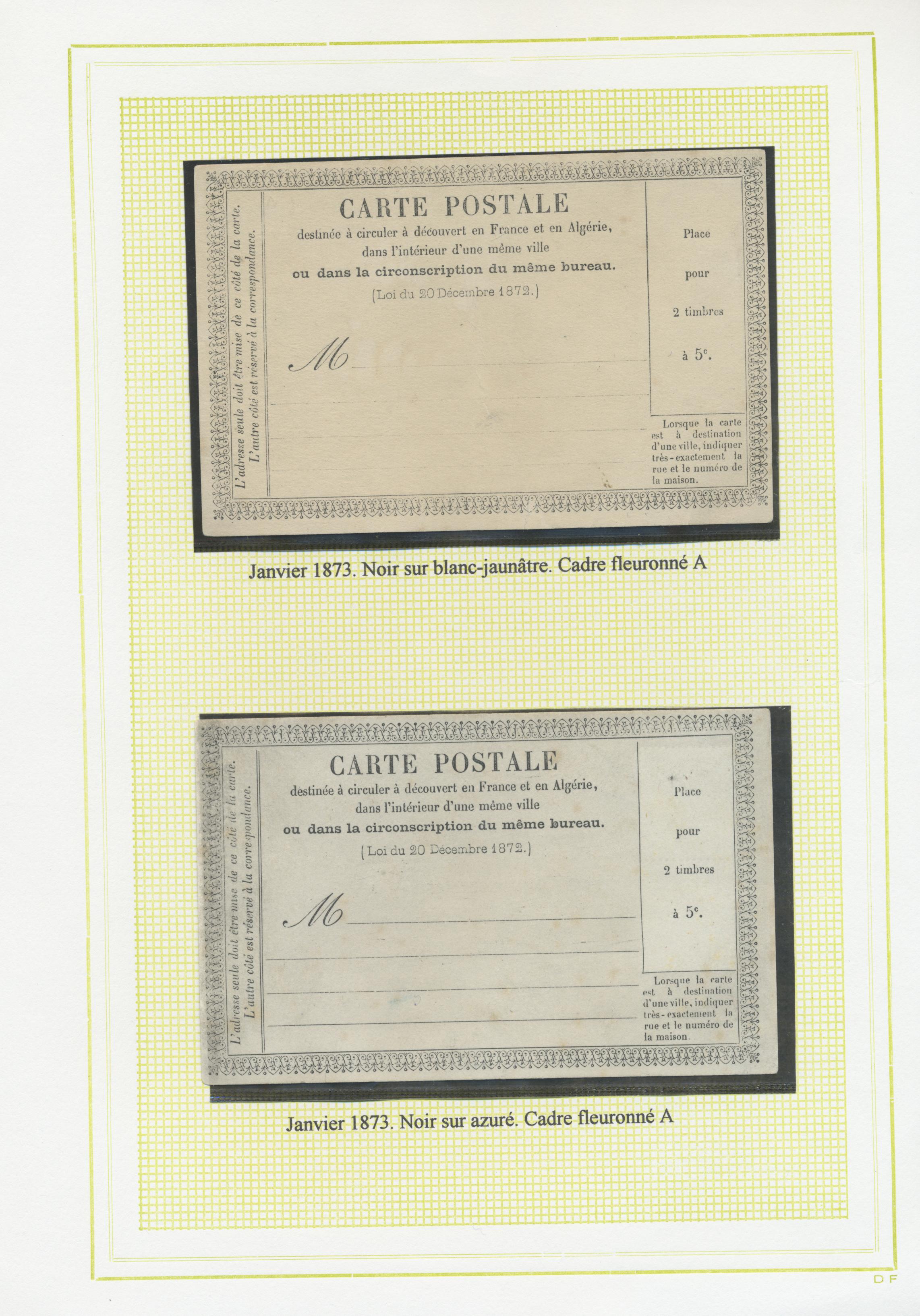 Bureau Noir Et Blanc stamp auction - frankreich - ganzsachen - auction #40 europe